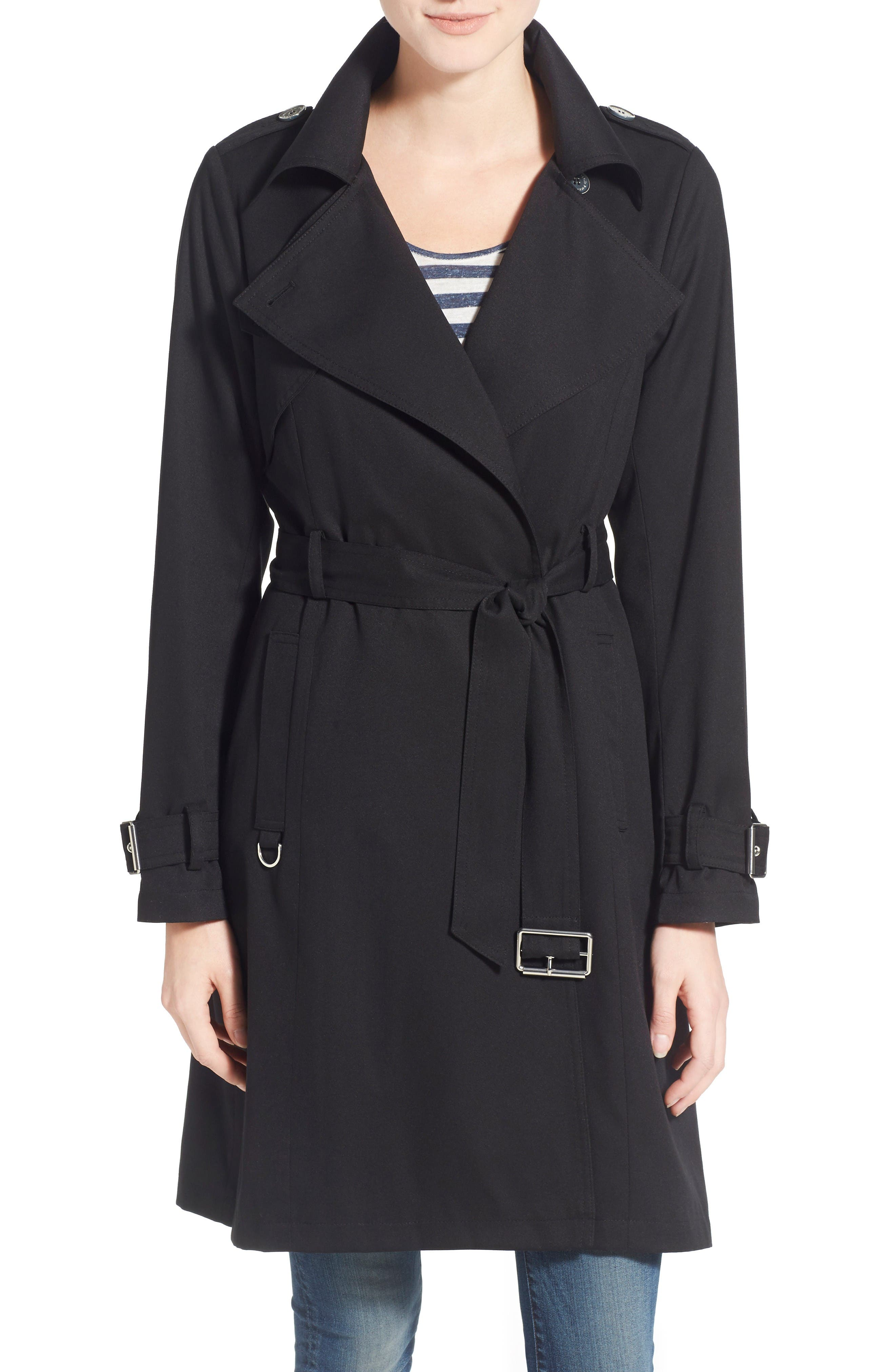 Main Image - French Connection Flowy Belted Trench Coat