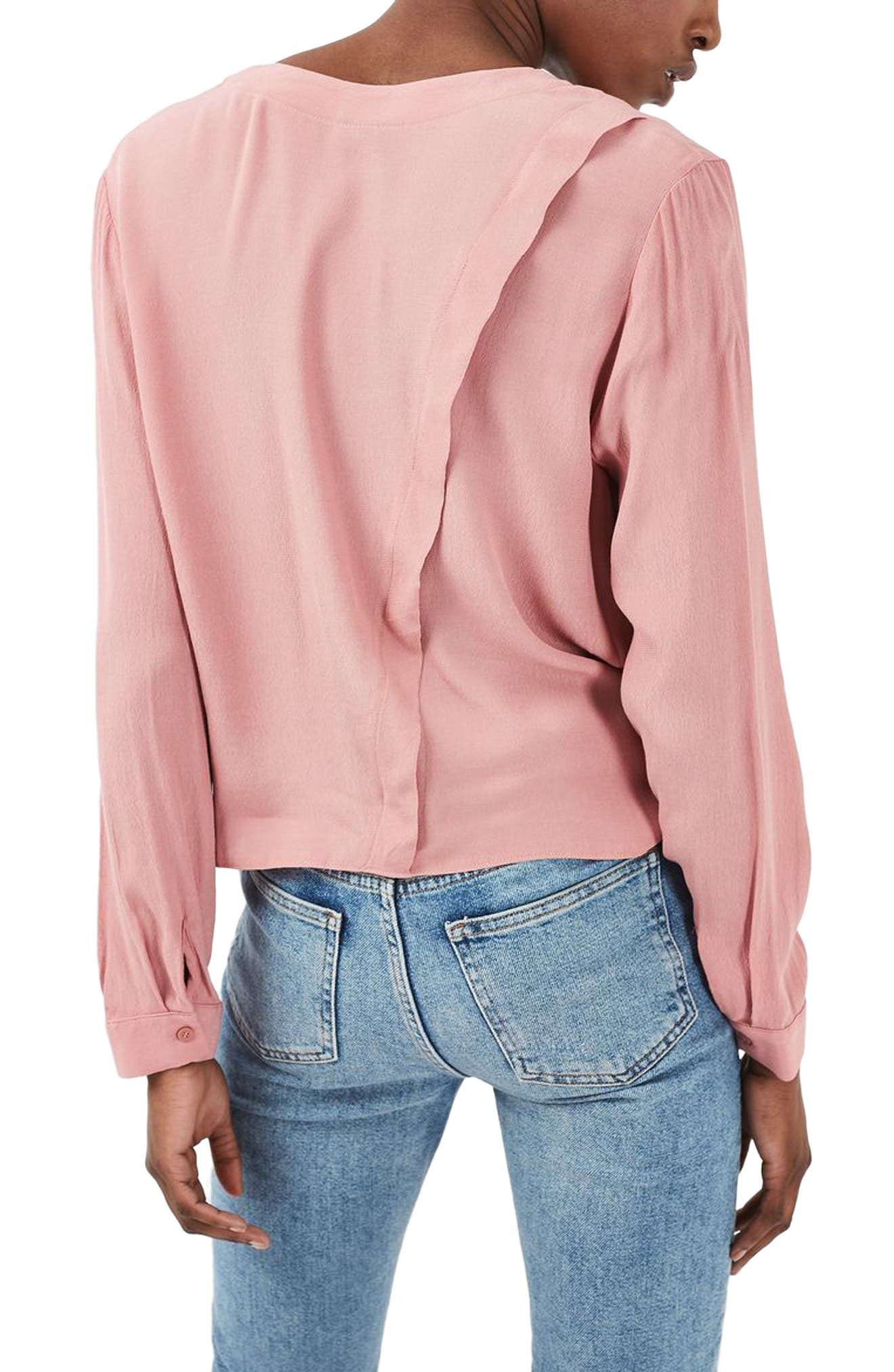 Alternate Image 3  - Topshop Crop Slouch Pocket Blouse
