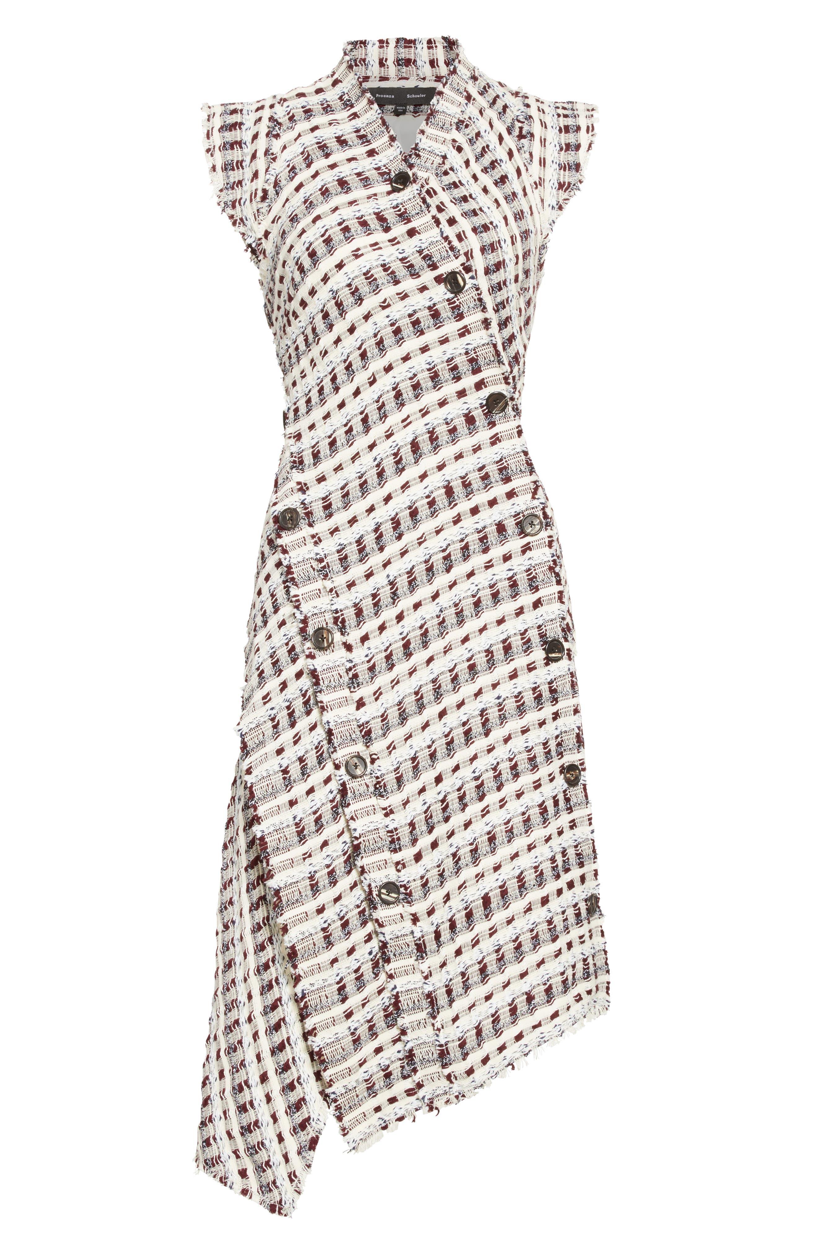 Alternate Image 4  - Proenza Schouler Asymmetrical Tweed Dress
