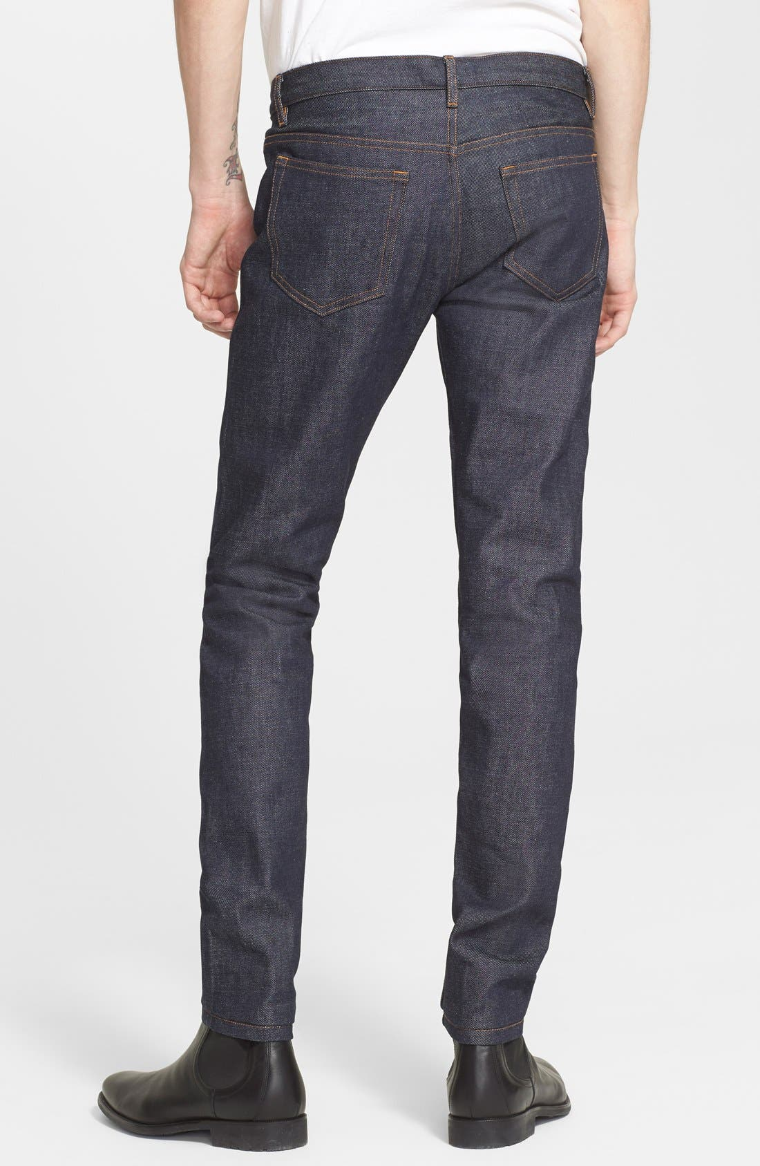 Alternate Image 2  - A.P.C. Petit Standard Slim Fit Selvedge Jeans (Indigo)