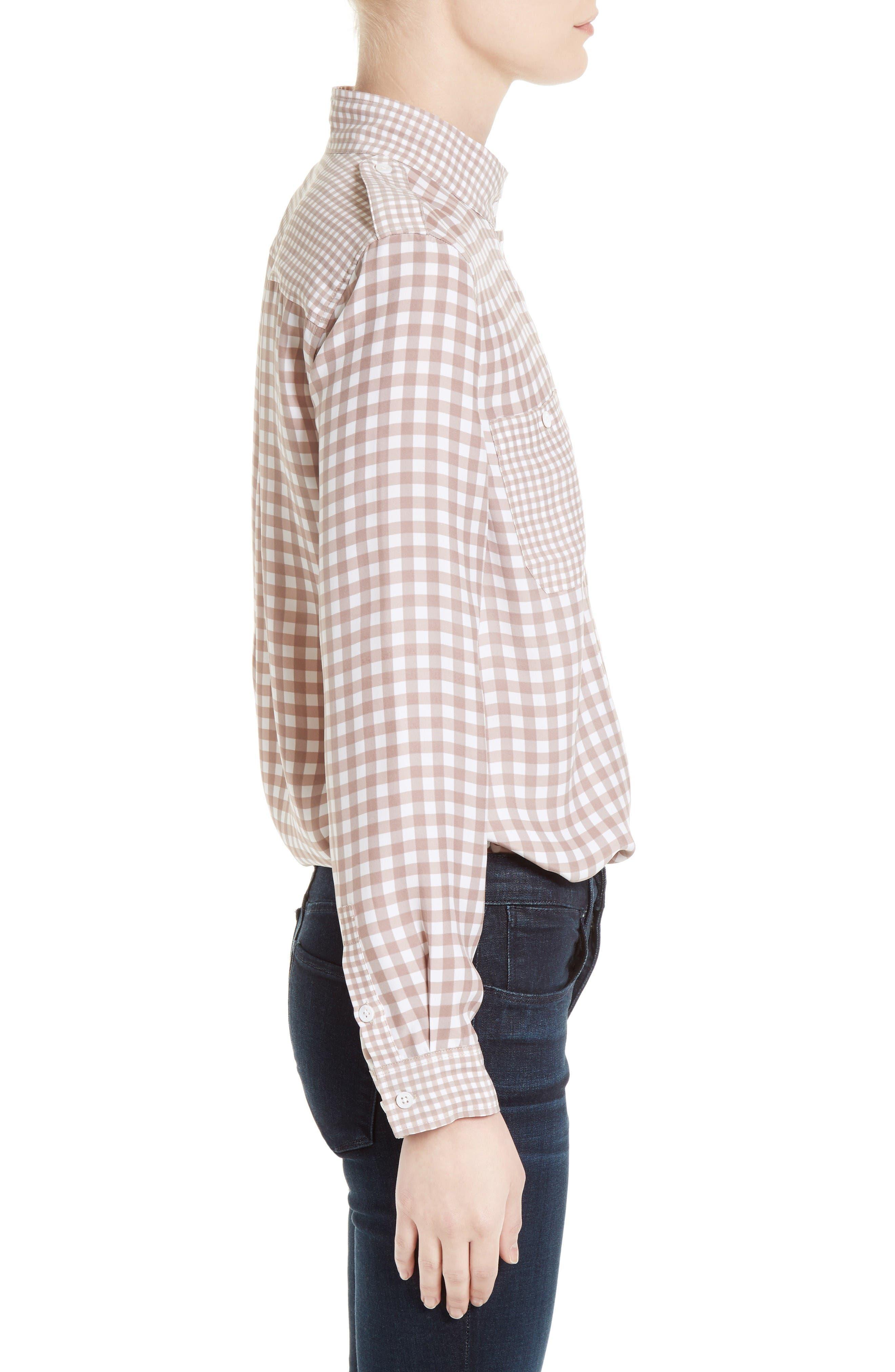 Alternate Image 3  - Equipment Alma Gingham Silk Shirt
