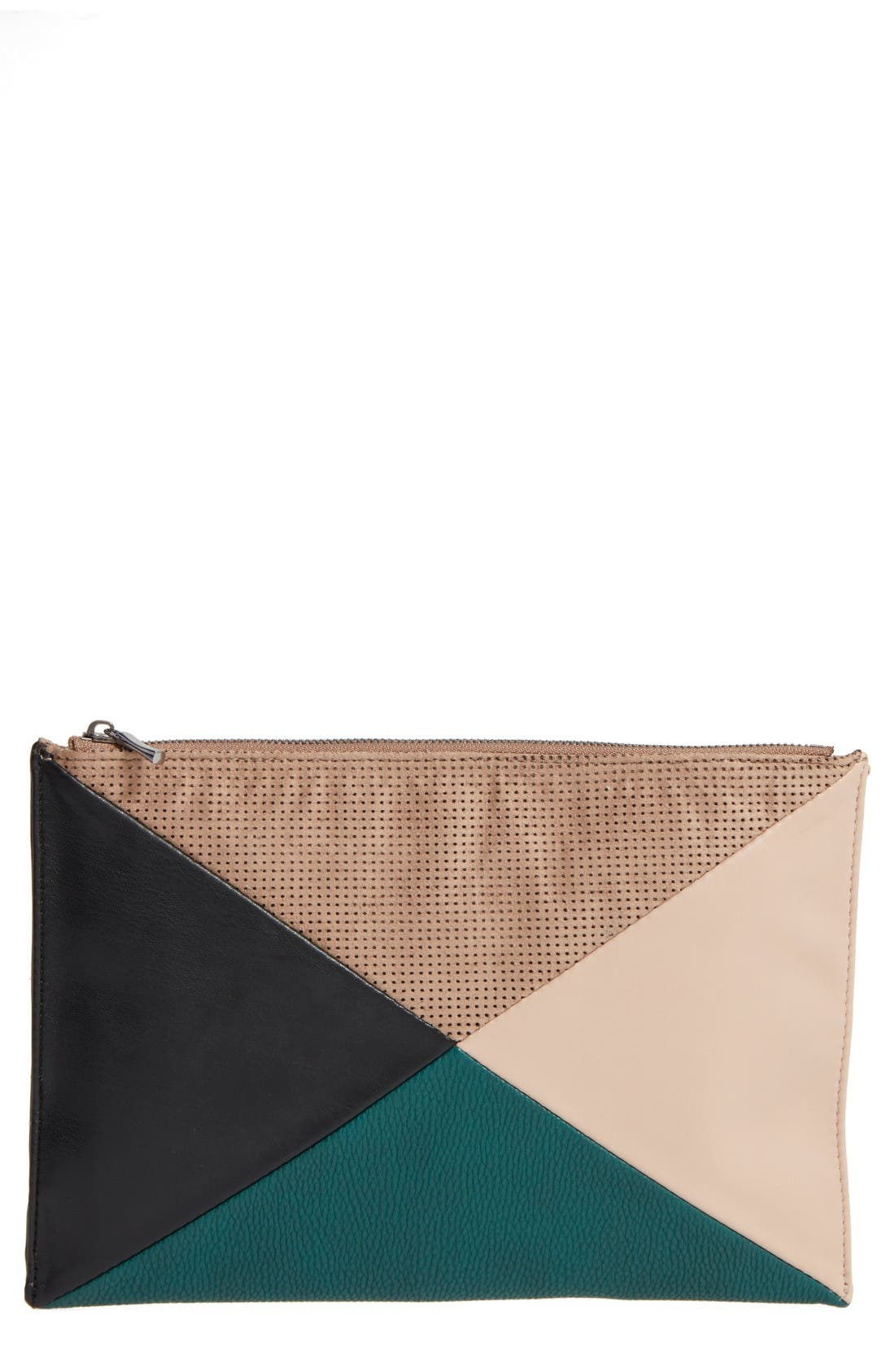 Main Image - Sole Society Steph Patchwork Clutch