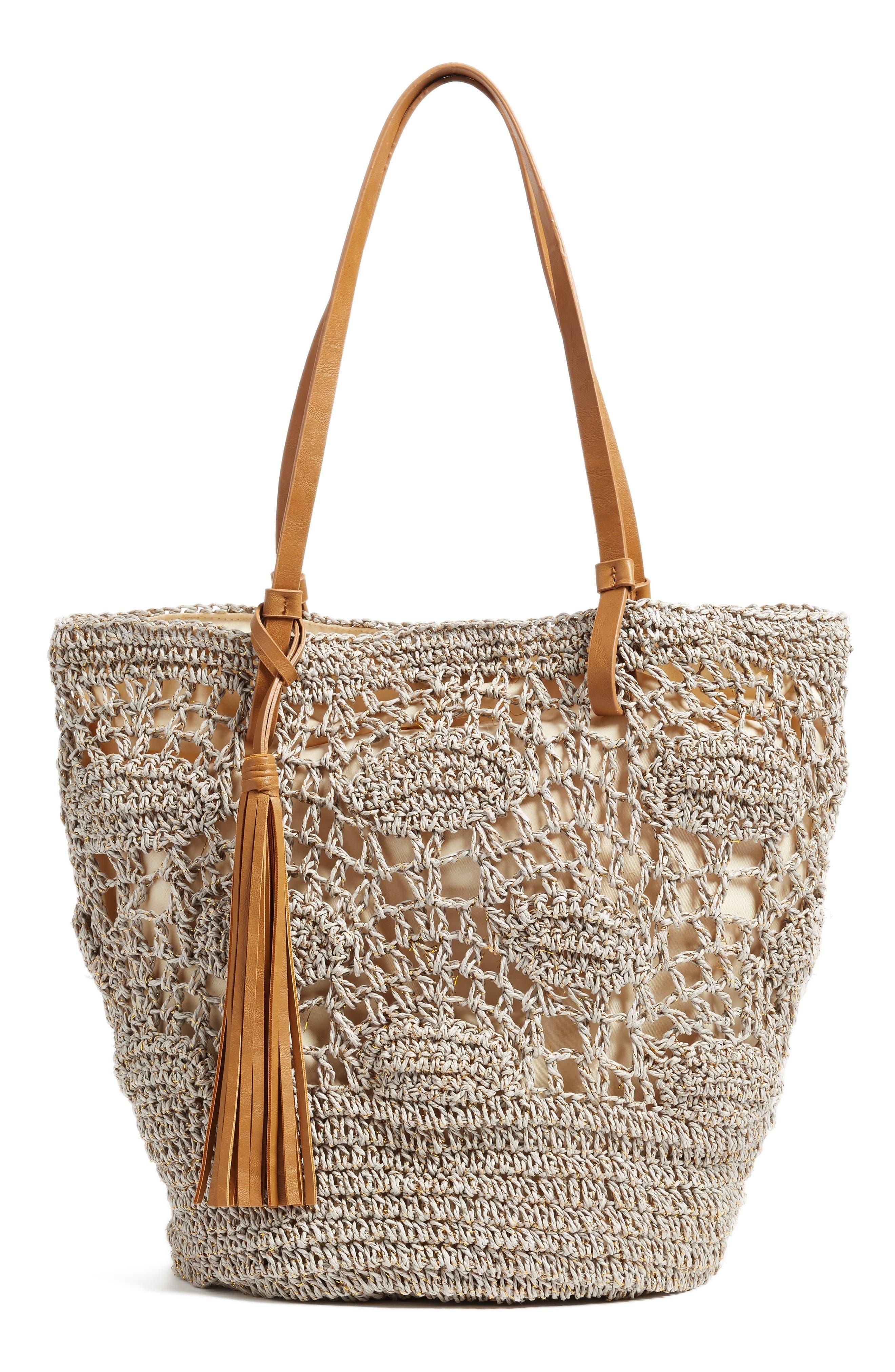 Main Image - Nordstrom Crochet Straw Tote