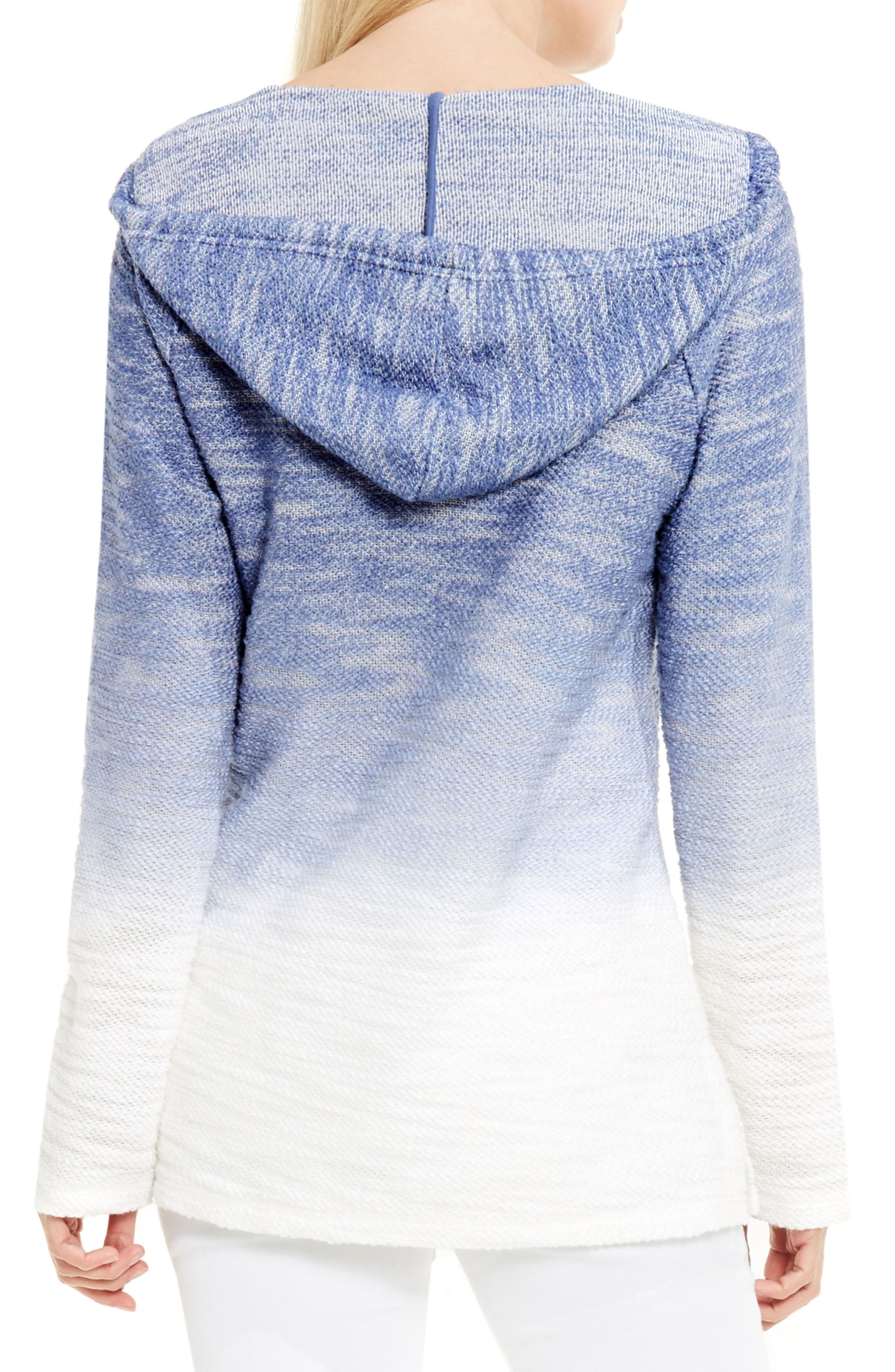 Alternate Image 2  - Two by Vince Camuto Ombré Dip Dye Terry Hoodie