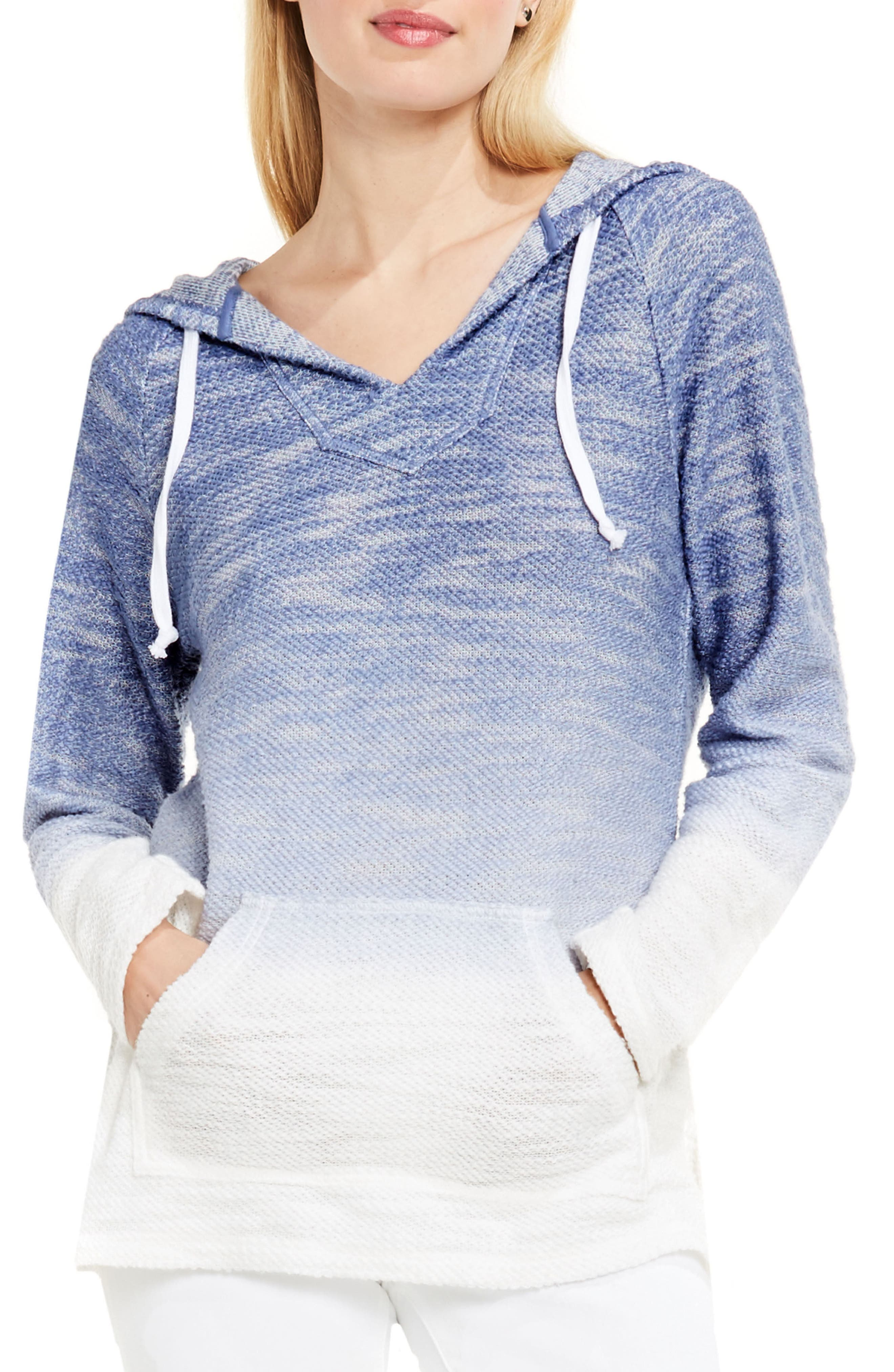 Main Image - Two by Vince Camuto Ombré Dip Dye Terry Hoodie