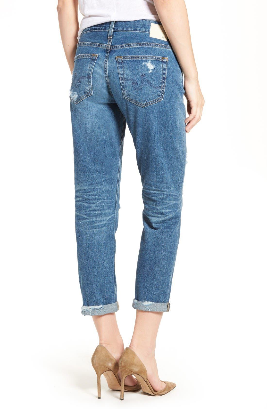 Alternate Image 2  - AG Ex-Boyfriend Crop Slim Jeans (12 Years Aroma)
