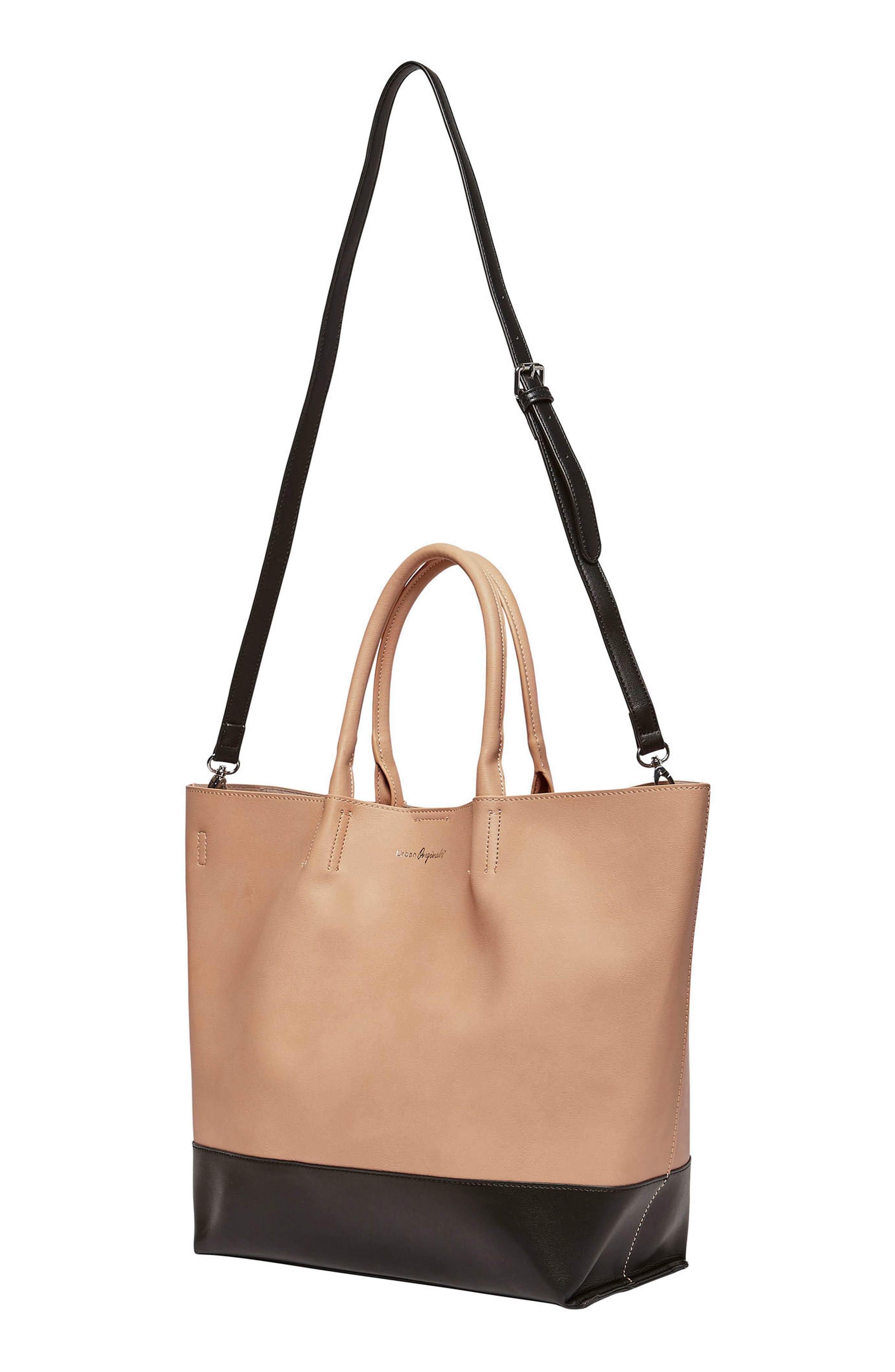Alternate Image 2  - Urban Originals Revenge Colorblock Faux Leather Tote