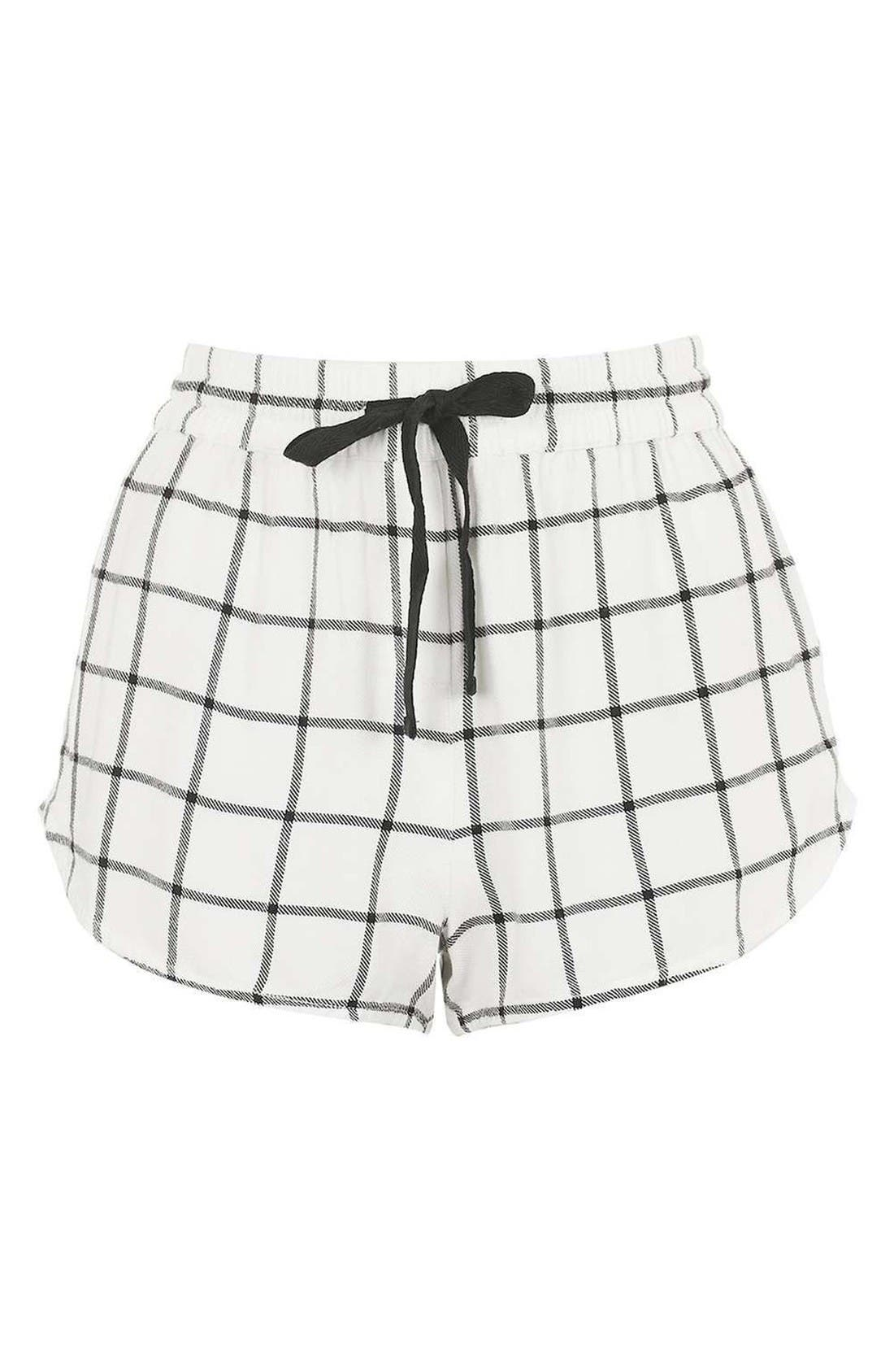 Alternate Image 4  - Topshop Windowpane Check Pajama Shorts