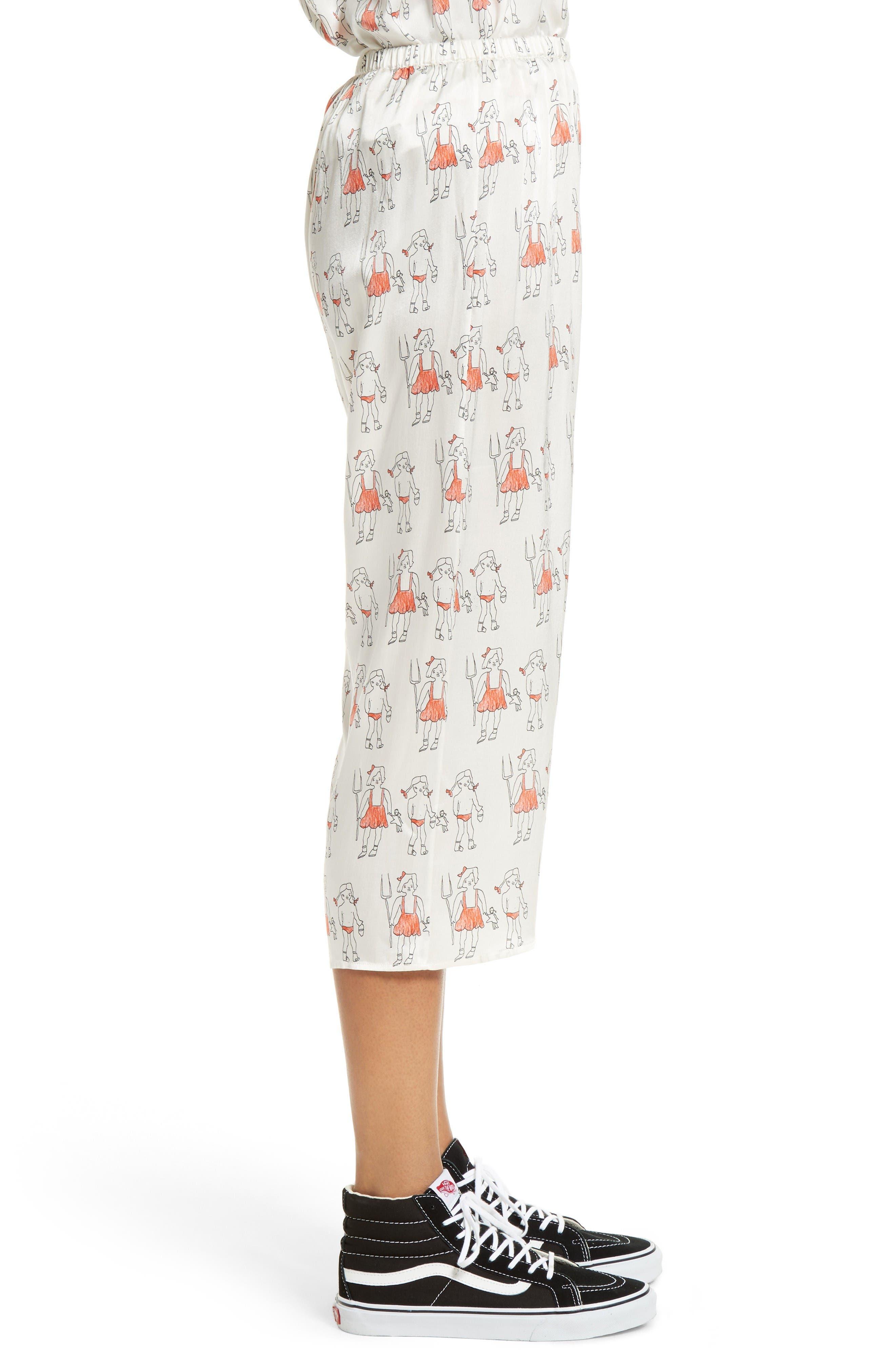 Alternate Image 5  - Shrimps Dagobert Silk Pajama Pants