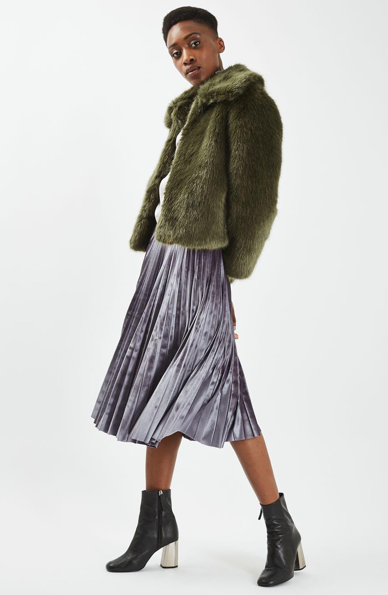 Alternate Image 2  - Topshop Claire Faux Fur Coat
