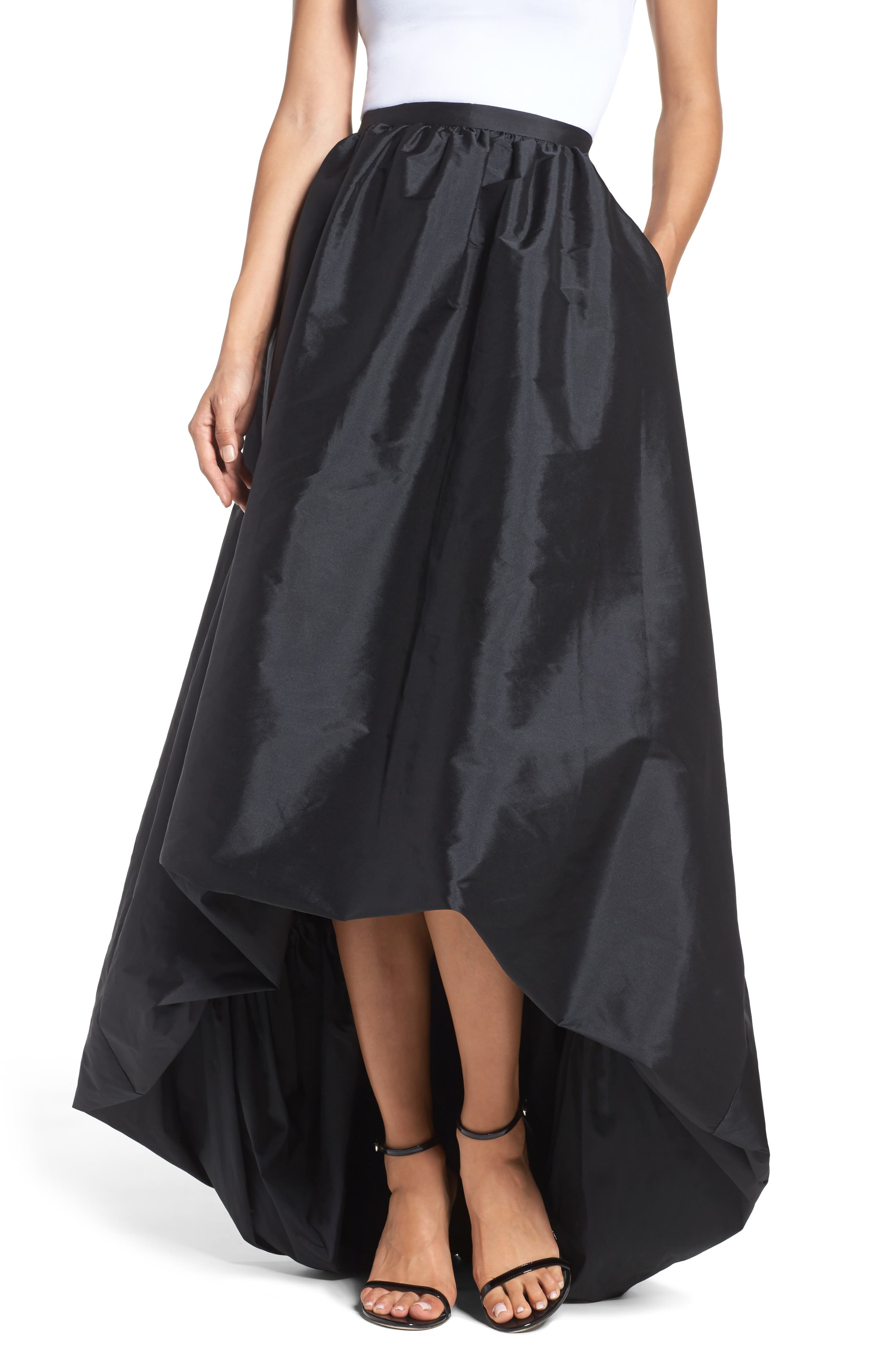 Alternate Image 1 Selected - Adrianna Papell High/Low Ballgown Skirt