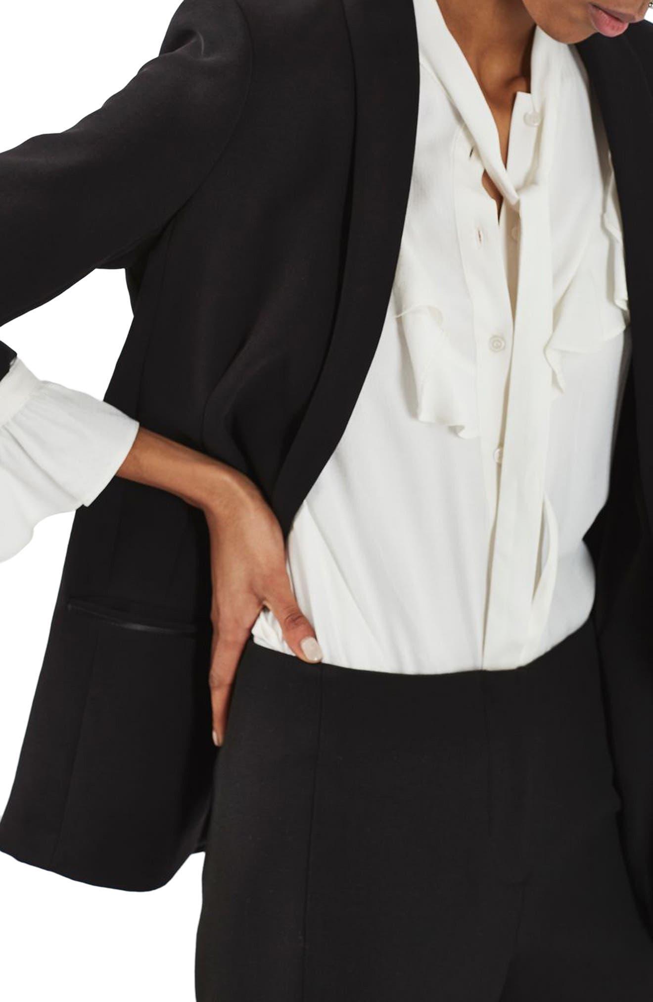 Alternate Image 5  - Topshop Slouch Tuxedo Jacket