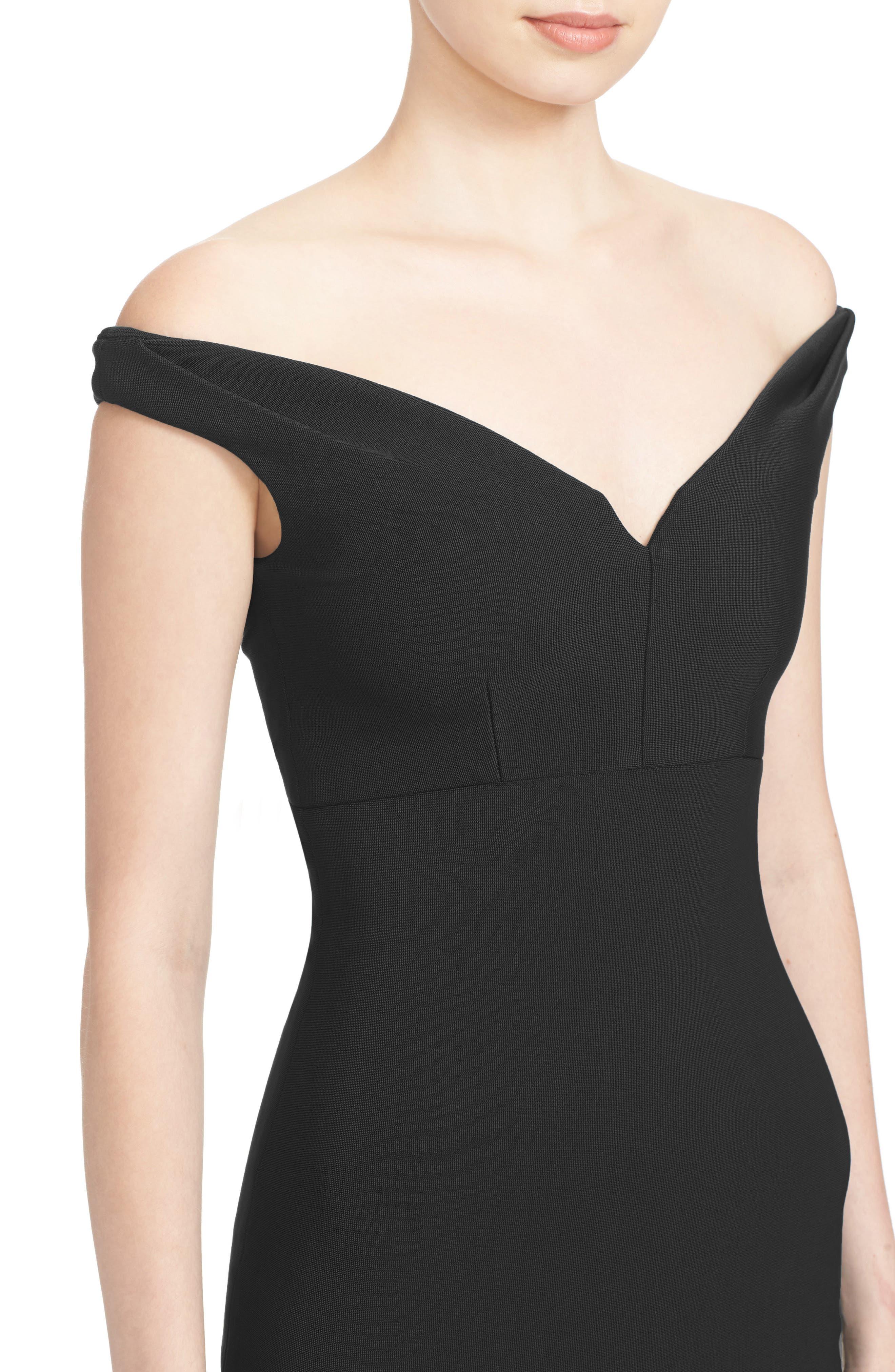 Alternate Image 4  - Cinq à Sept Garnet Off the Shoulder Dress