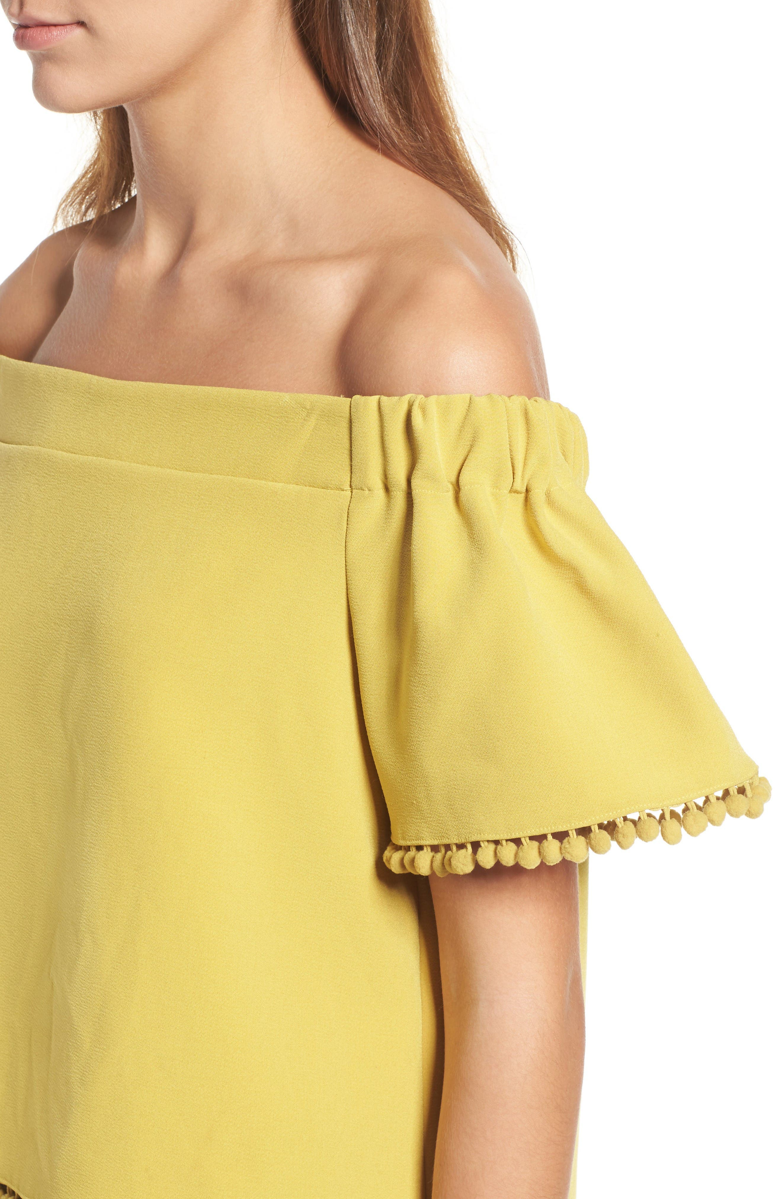 Alternate Image 5  - Willow & Clay Pompom Off the Shoulder Top