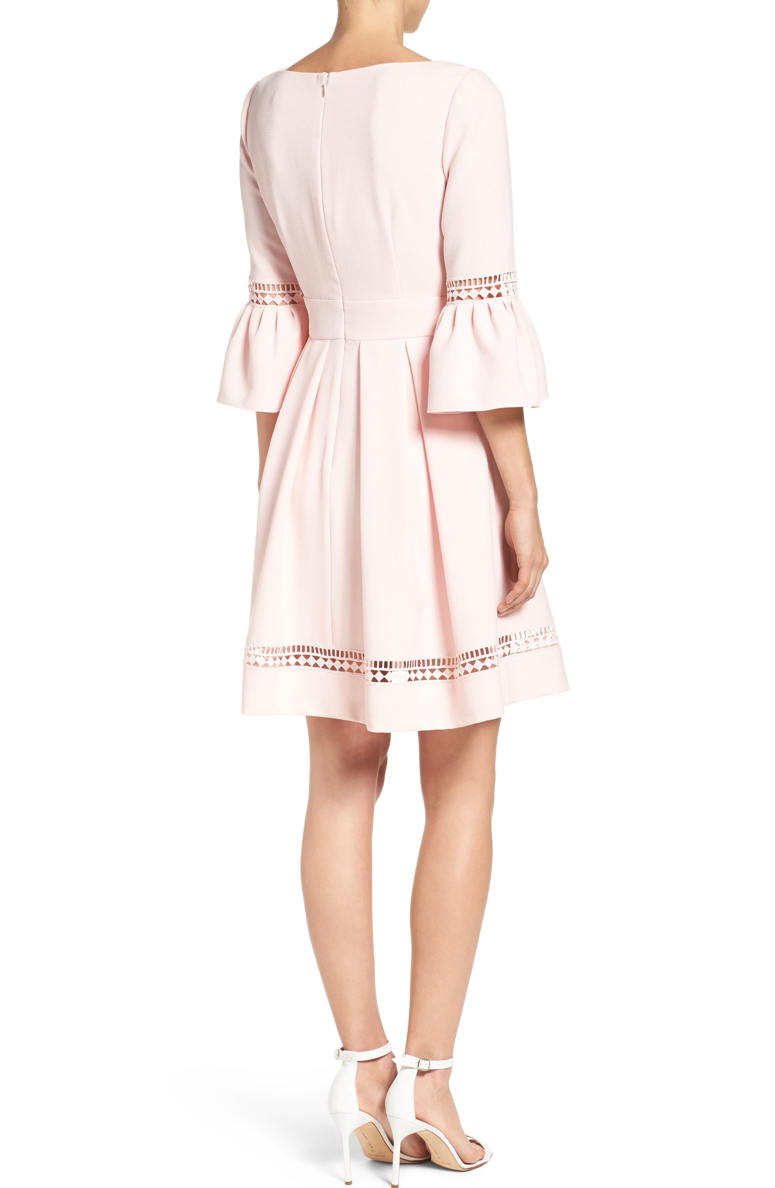 Alternate Image 2  - Eliza J Bell Sleeve Dress (Regular & Petite)