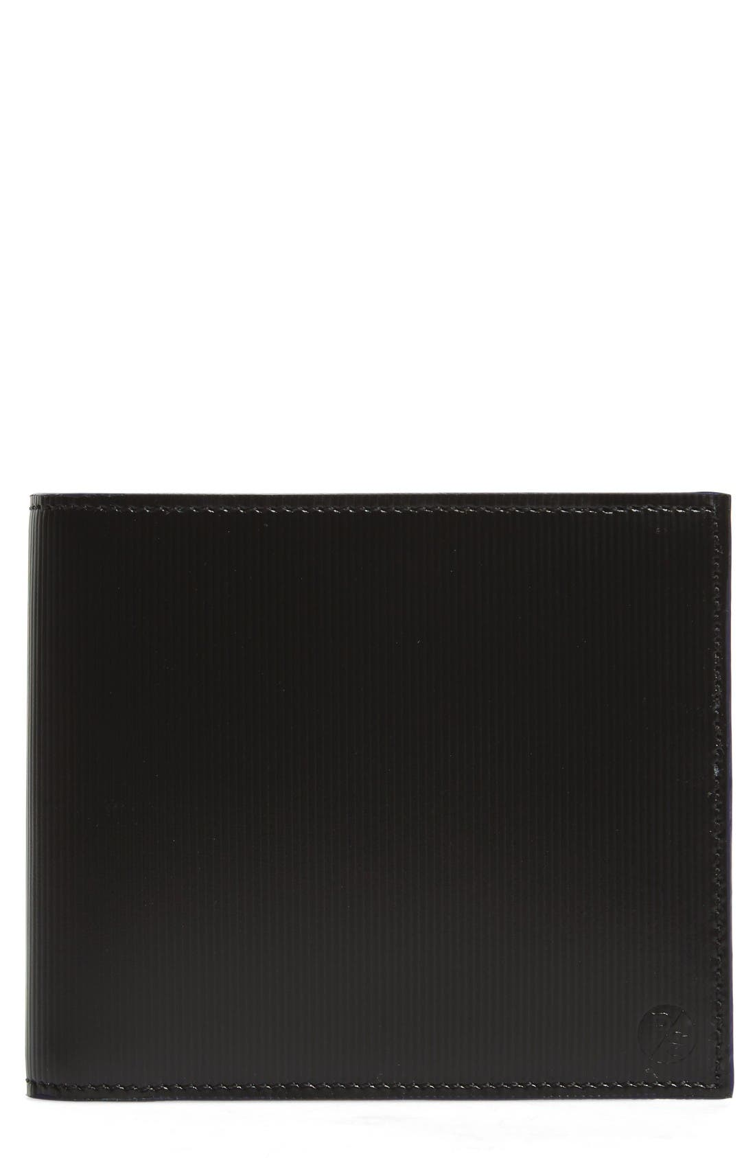 Paul Smith Stripe Embossed Leather Bifold Wallet
