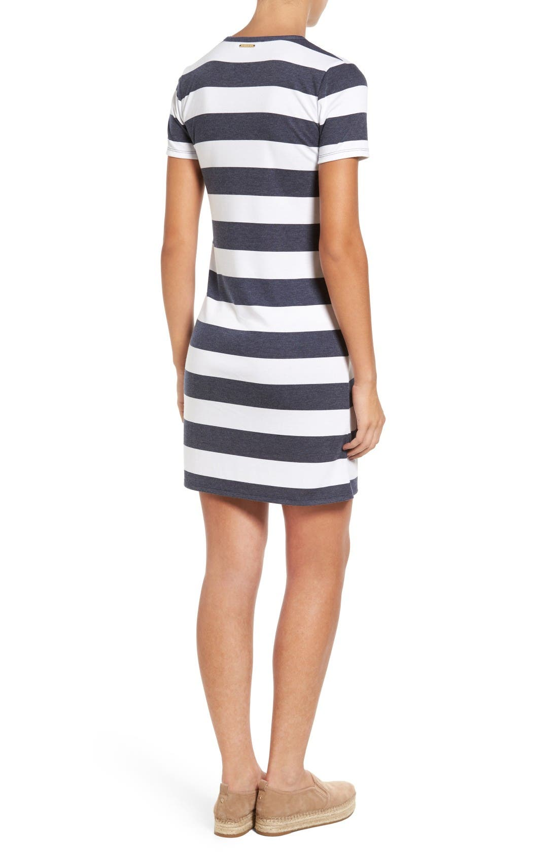 Alternate Image 2  - MICHAEL Michael Kors Rugby Stripe T-Shirt Dress (Regular & Petite)