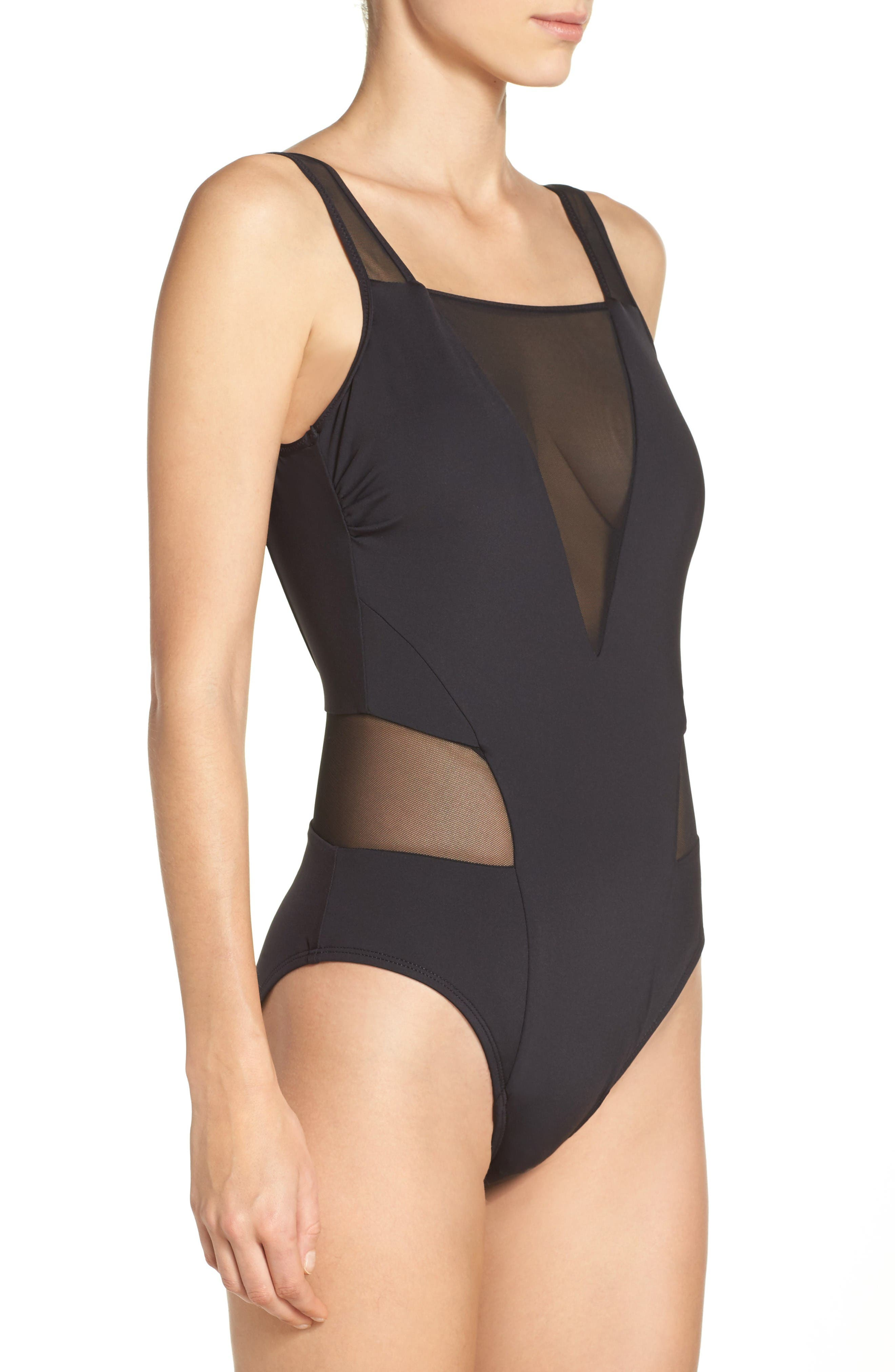 Alternate Image 3  - Kenneth Cole Mesh One-Piece Swimsuit