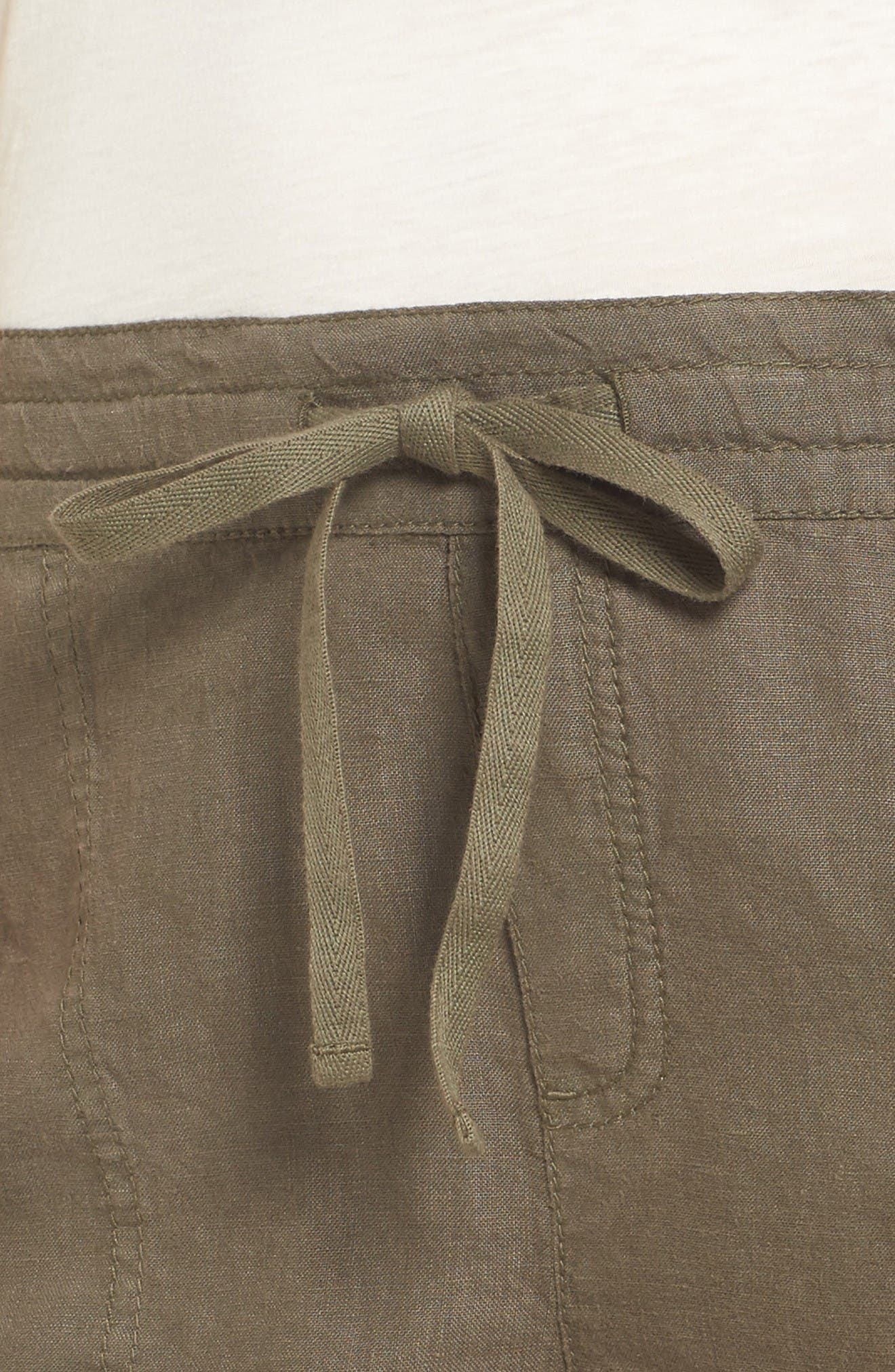 Alternate Image 4  - Caslon® Drawstring Linen Shorts (Regular & Petite)