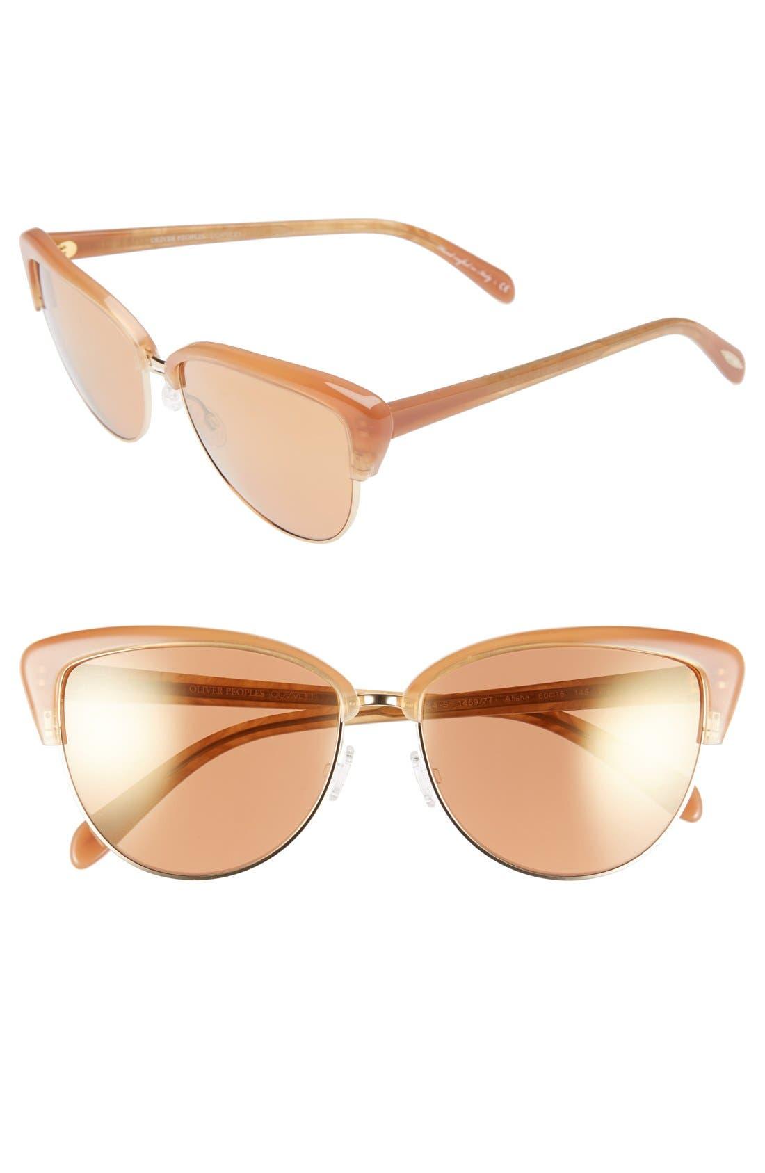 Alternate Image 1 Selected - Oliver Peoples 'Alisha' 60mm Sunglasses