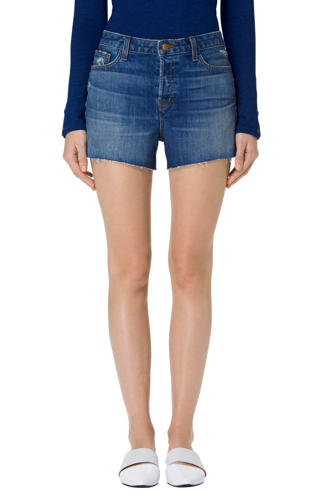 J BRAND Gracie High Rise Cutoff Shorts