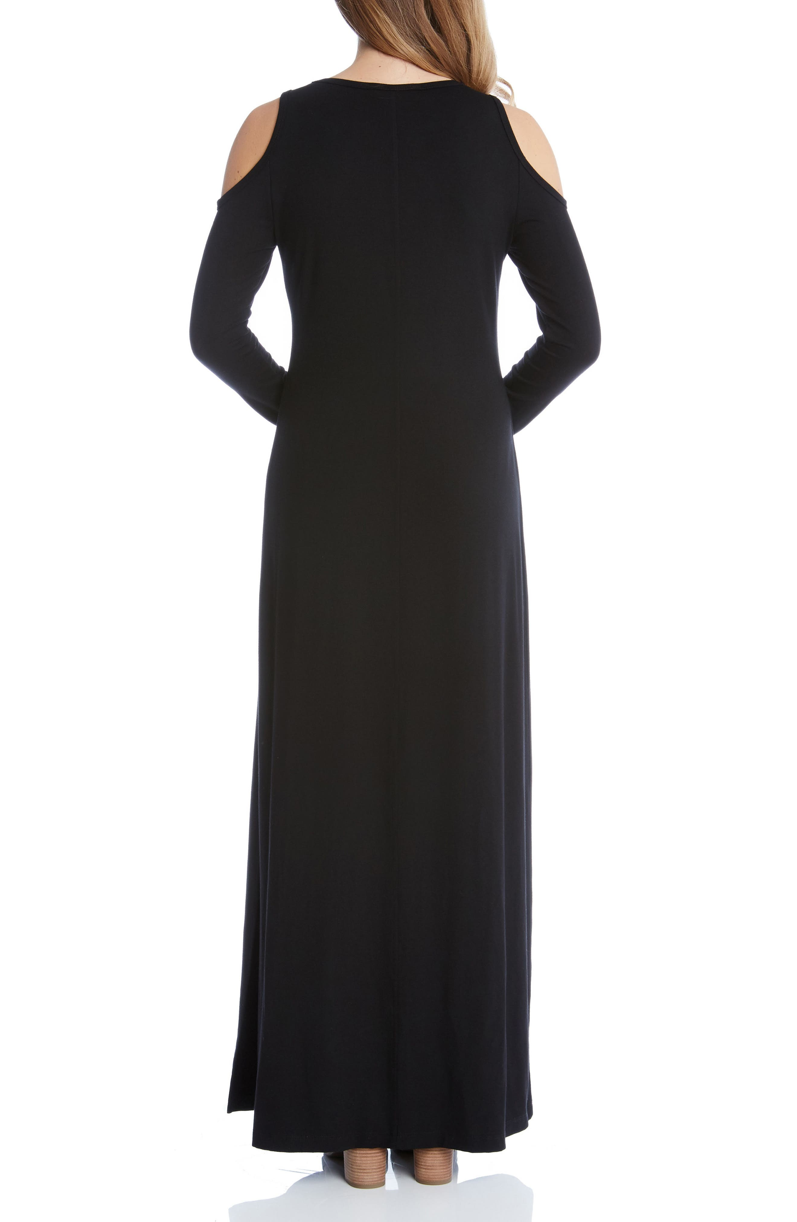 Alternate Image 3  - Karen Kane Cold Shoulder Maxi Dress