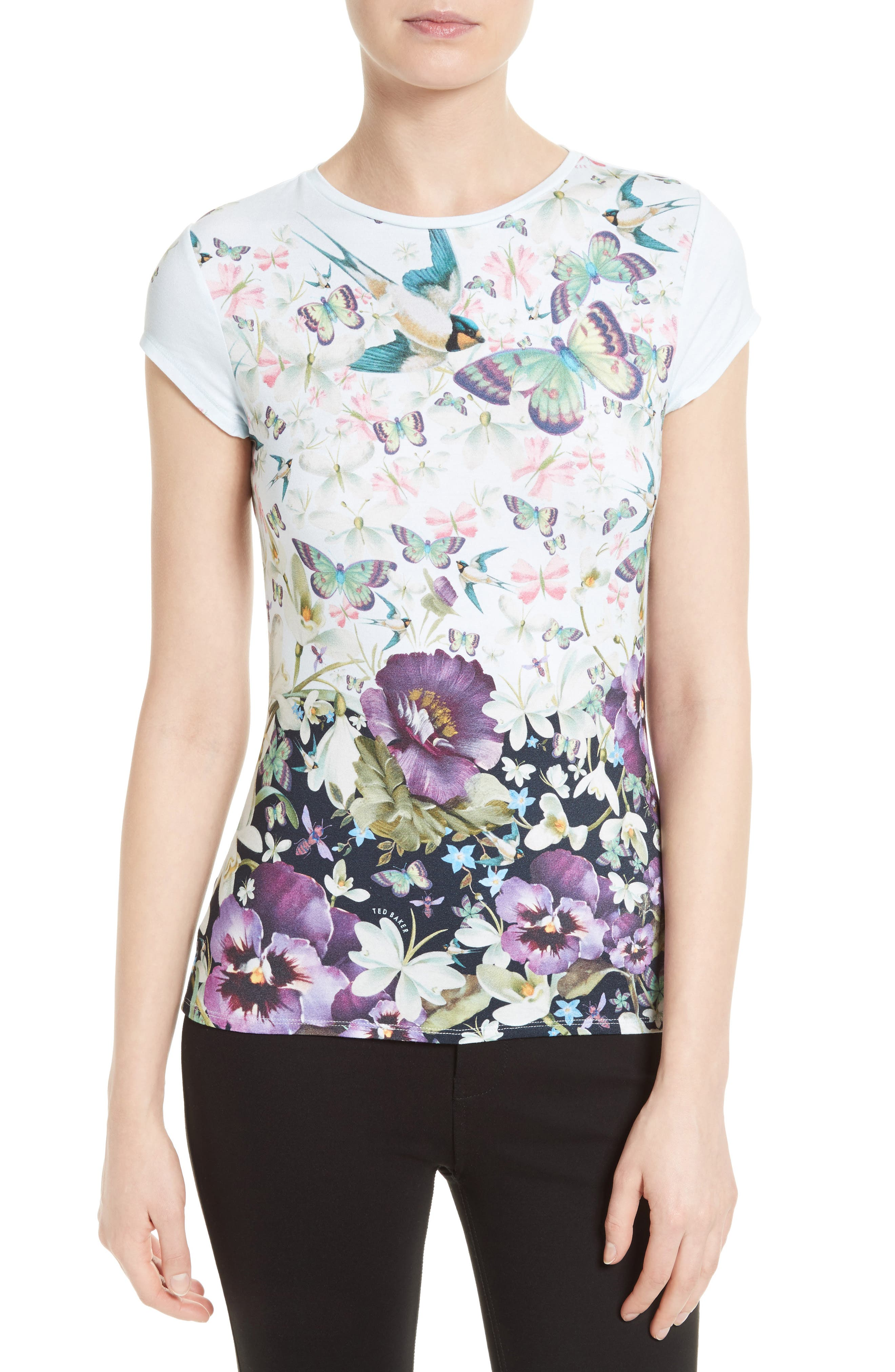 TED BAKER LONDON Jensen Floral Print Tee
