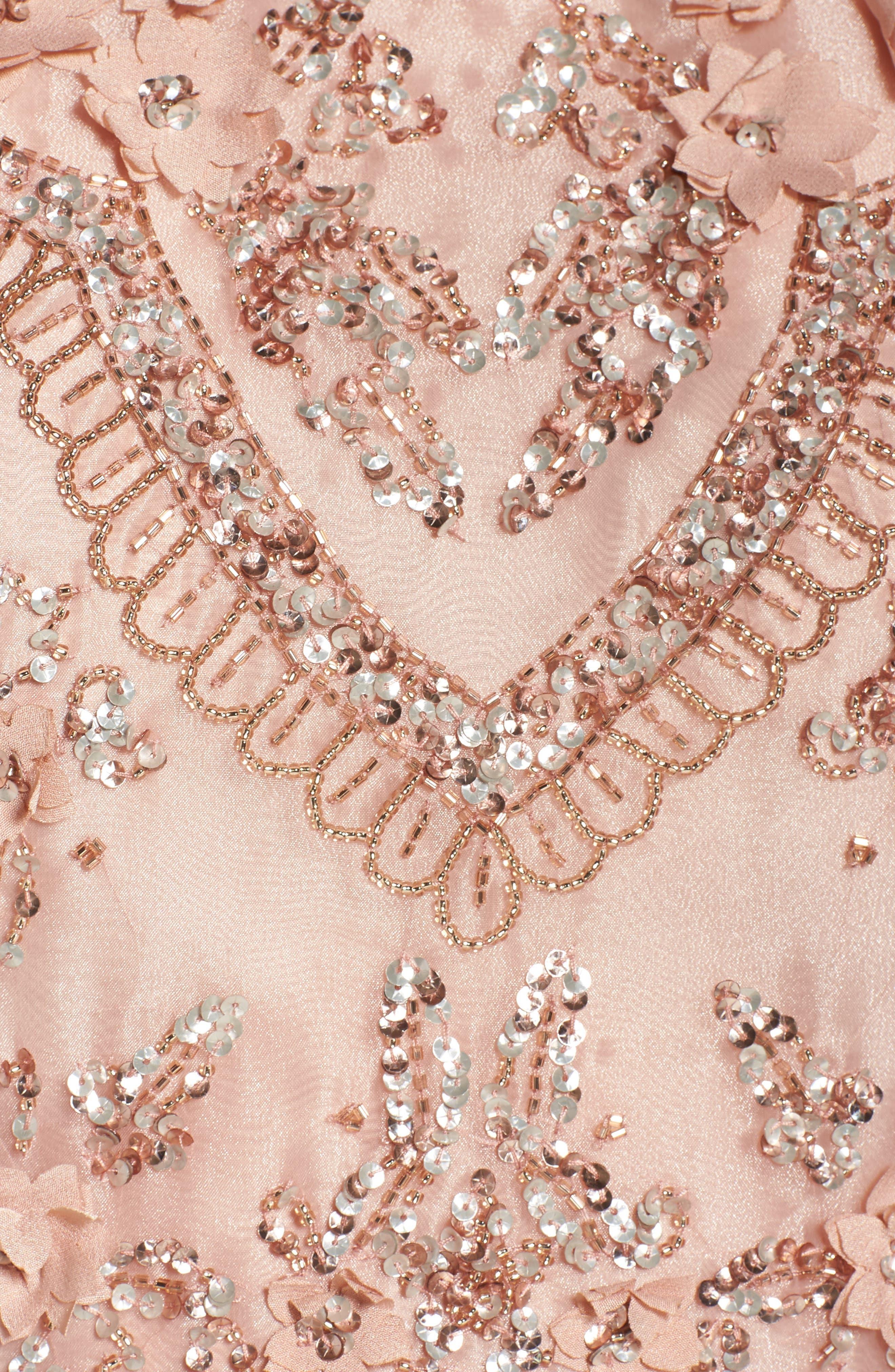 Alternate Image 6  - Adrianna Papell Scallop Dress