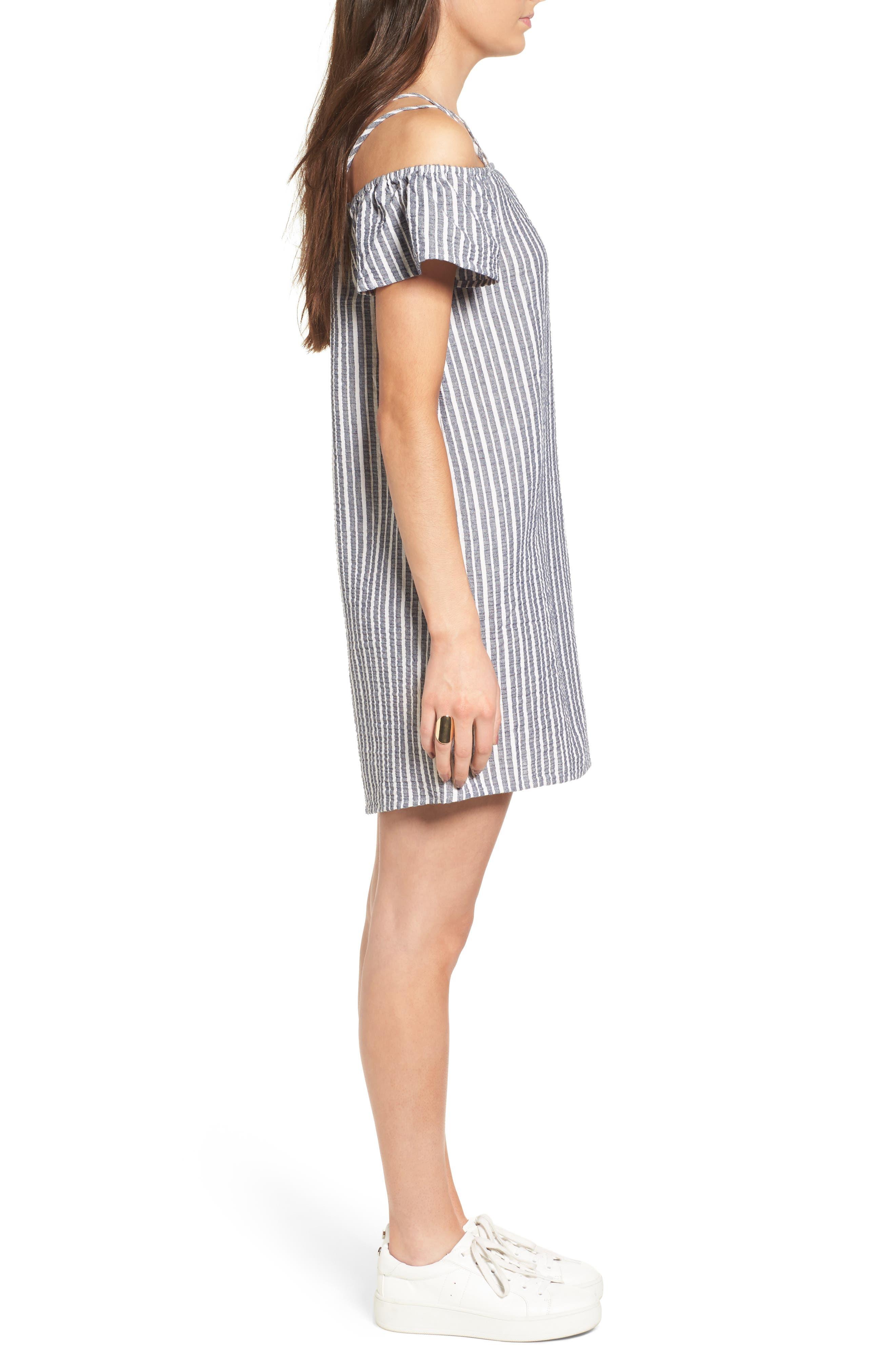 Alternate Image 3  - Lush Stripe Off the Shoulder Dress