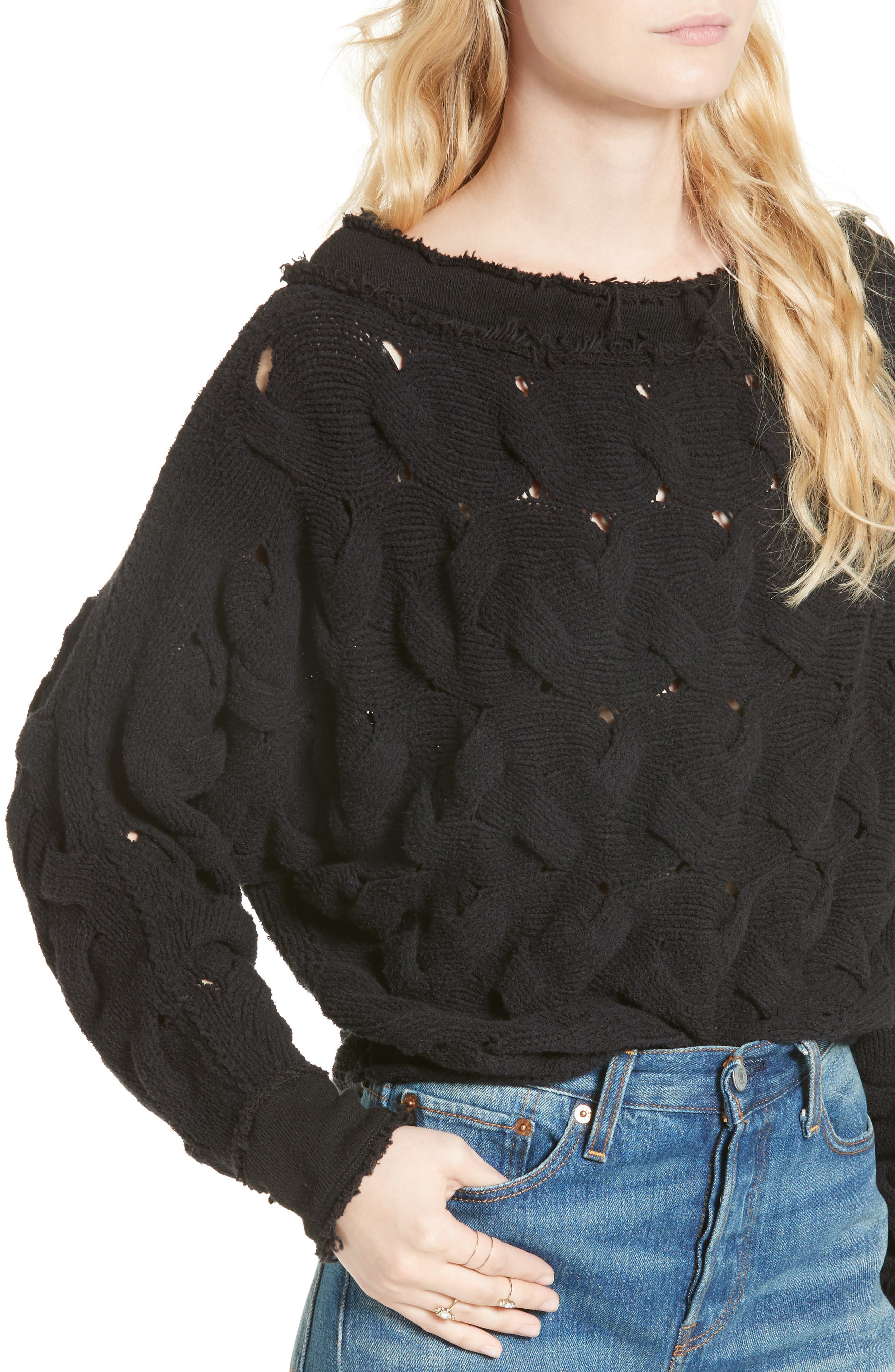 Alternate Image 4  - Free People Desert Sands Cable Pullover