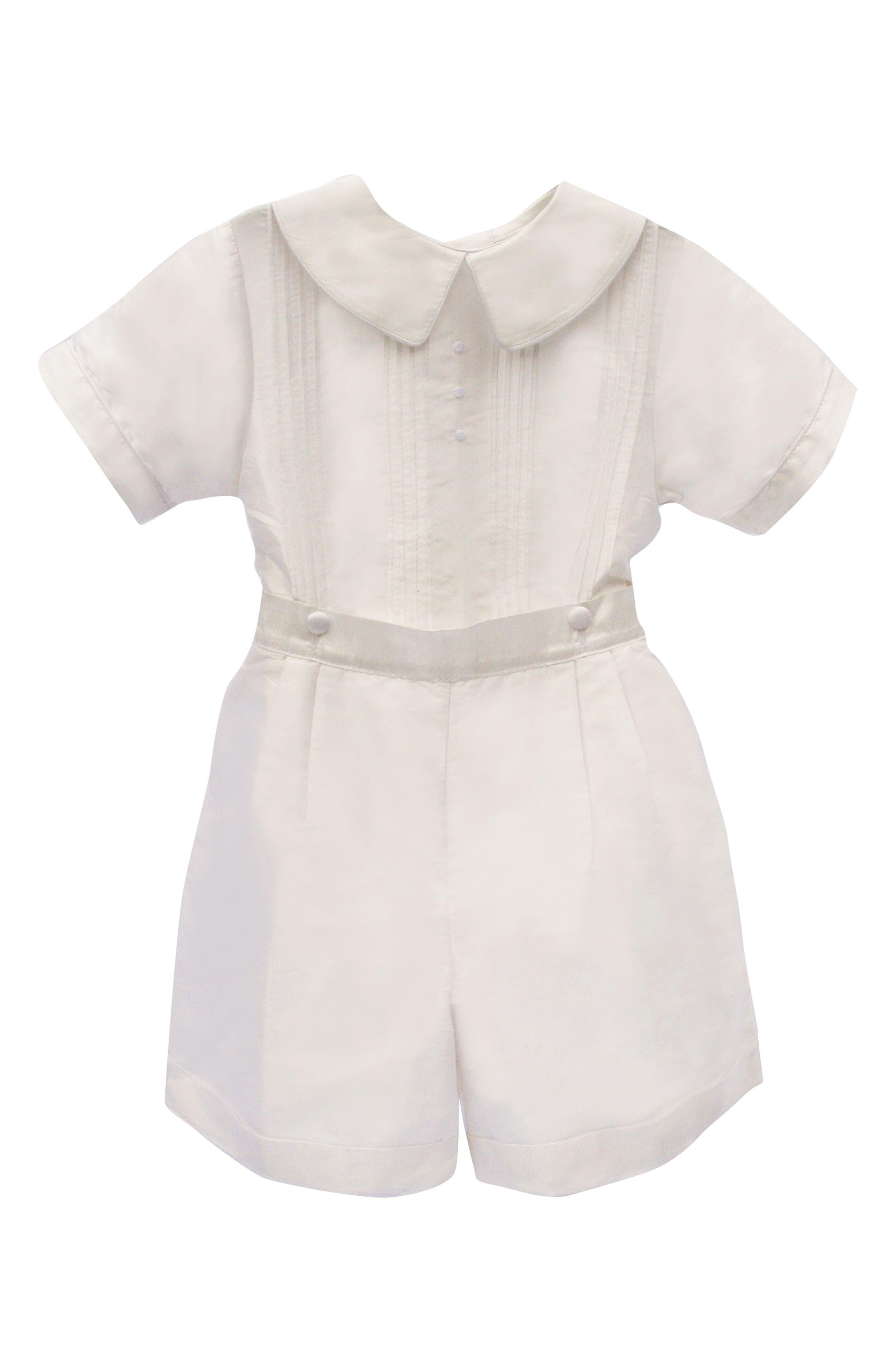 Isabel Garreton Sebastian Silk Shirt & Pants Set (Toddler Boys)