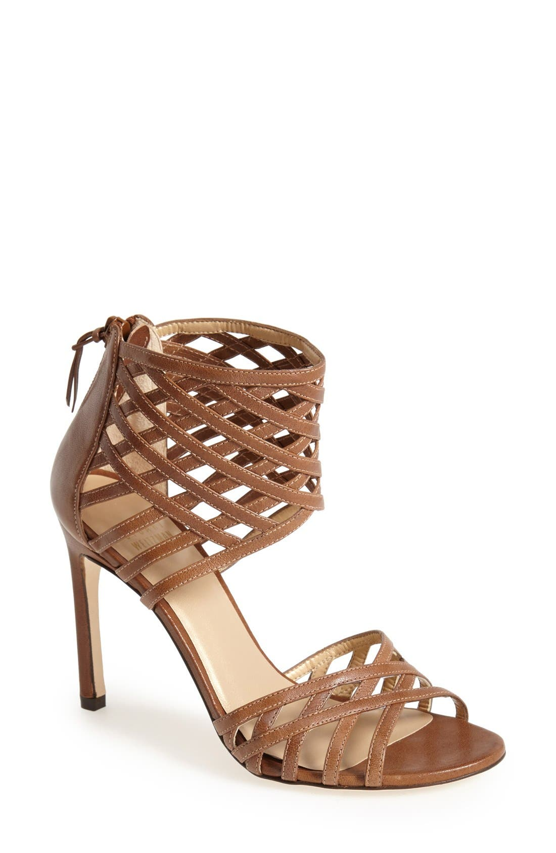 Alternate Image 1 Selected - Stuart Weitzman 'Cajun' Leather Sandal (Women)