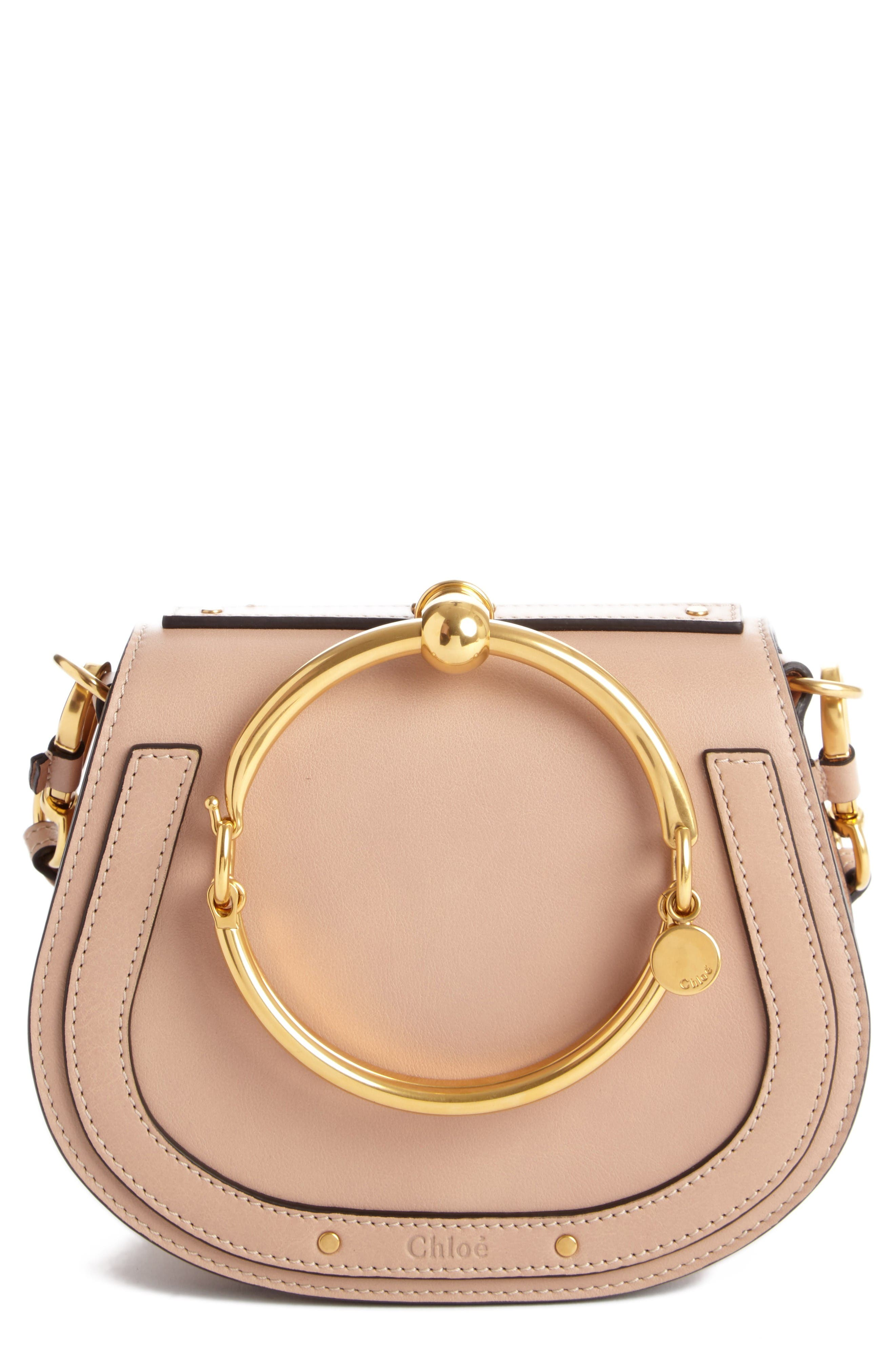Main Image - Chloé Small Nile Bracelet Leather Crossbody Bag