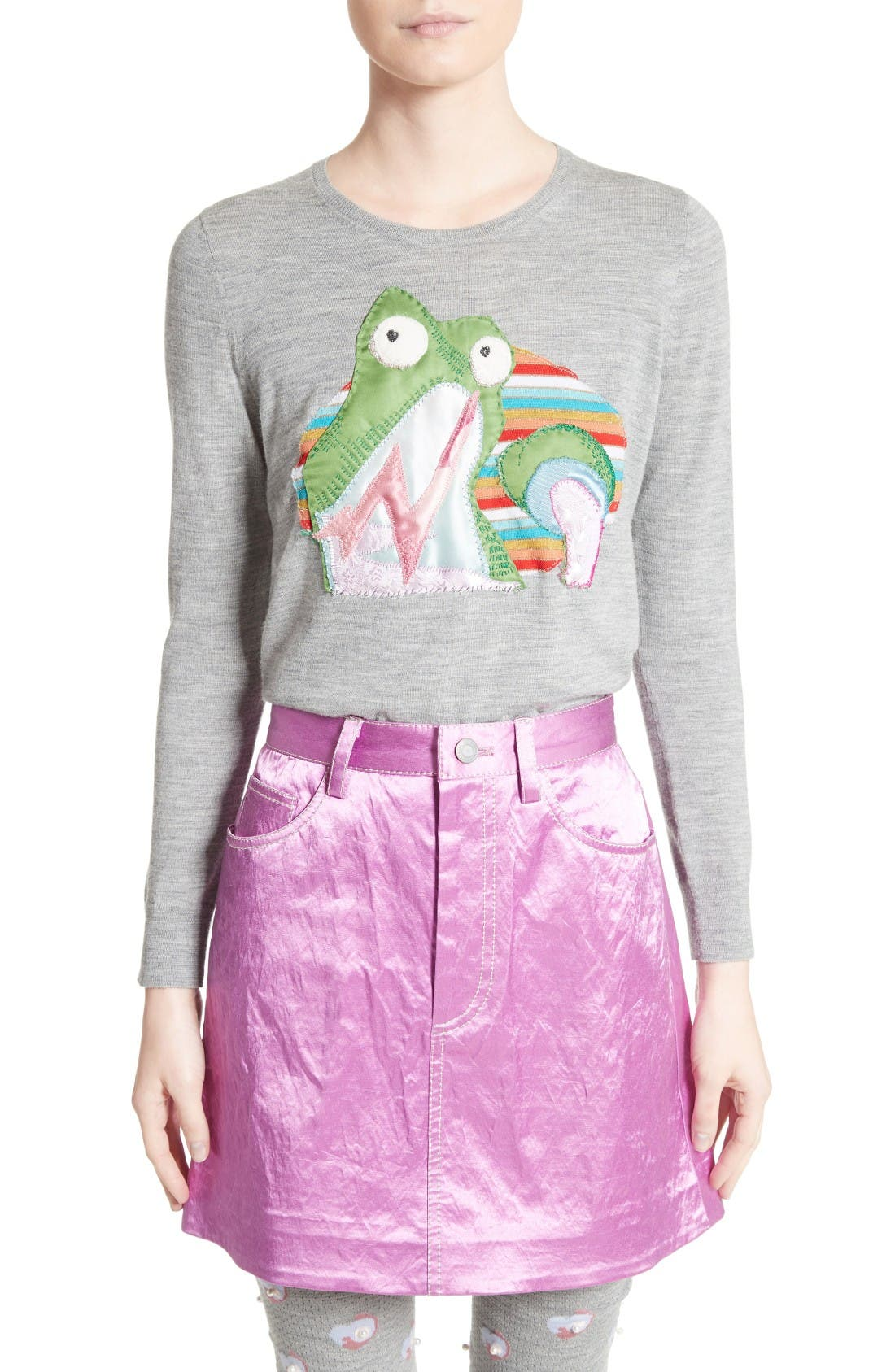 MARC JACOBS Embroidered Merino Wool Sweater