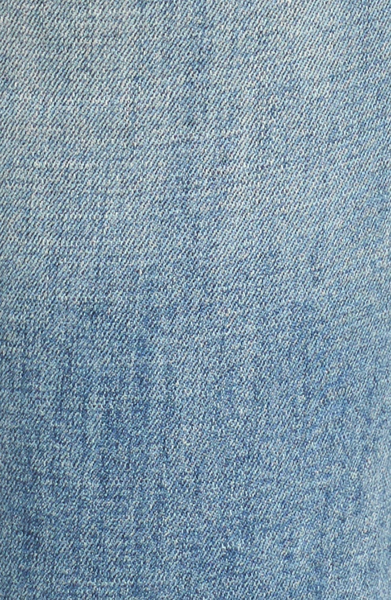 Alternate Image 5  - BLANKNYC Lost & Found Cuffed Straight Leg Jeans