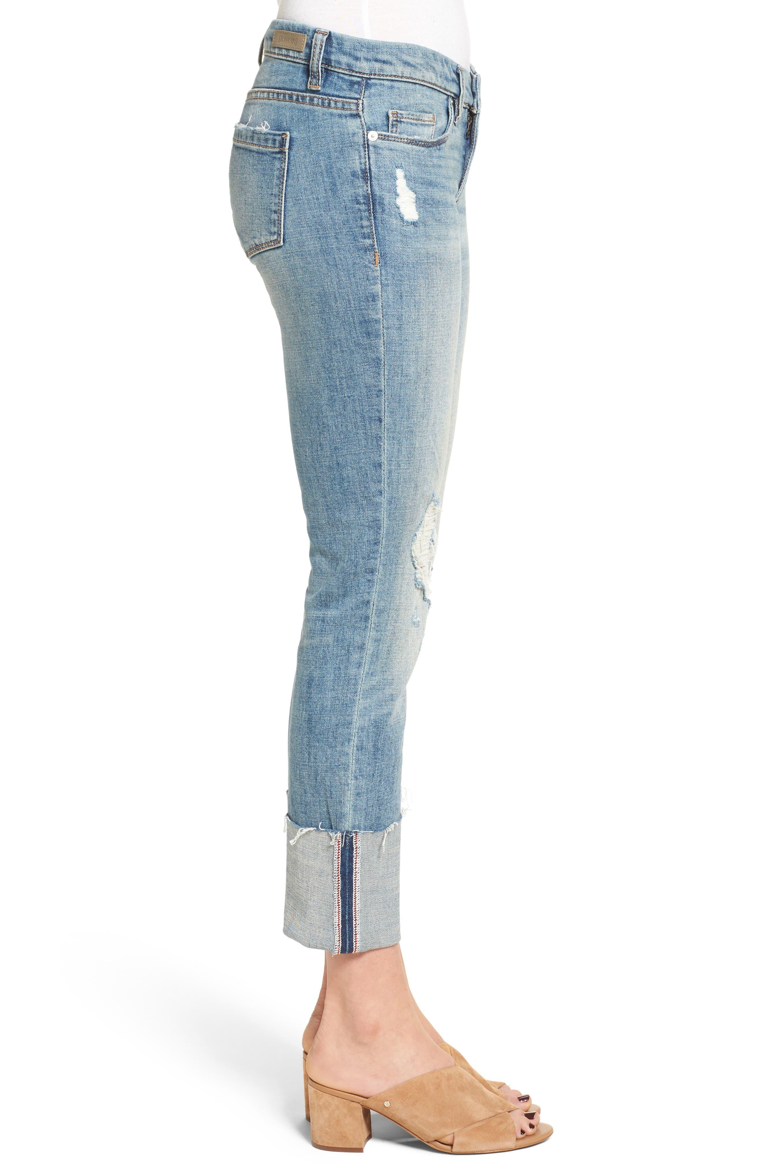 Alternate Image 3  - BLANKNYC Lost & Found Cuffed Straight Leg Jeans