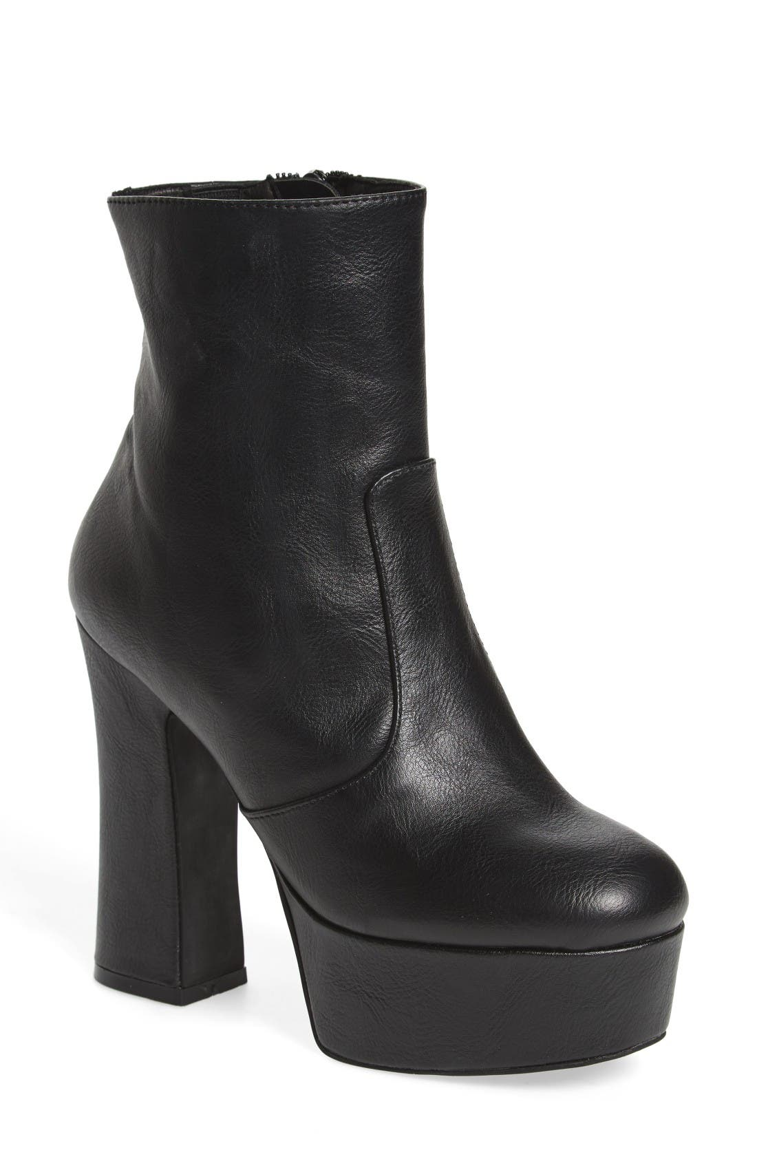 Alternate Image 1 Selected - Jeffrey Campbell De-Facto Block Heel Platform Bootie (Women)