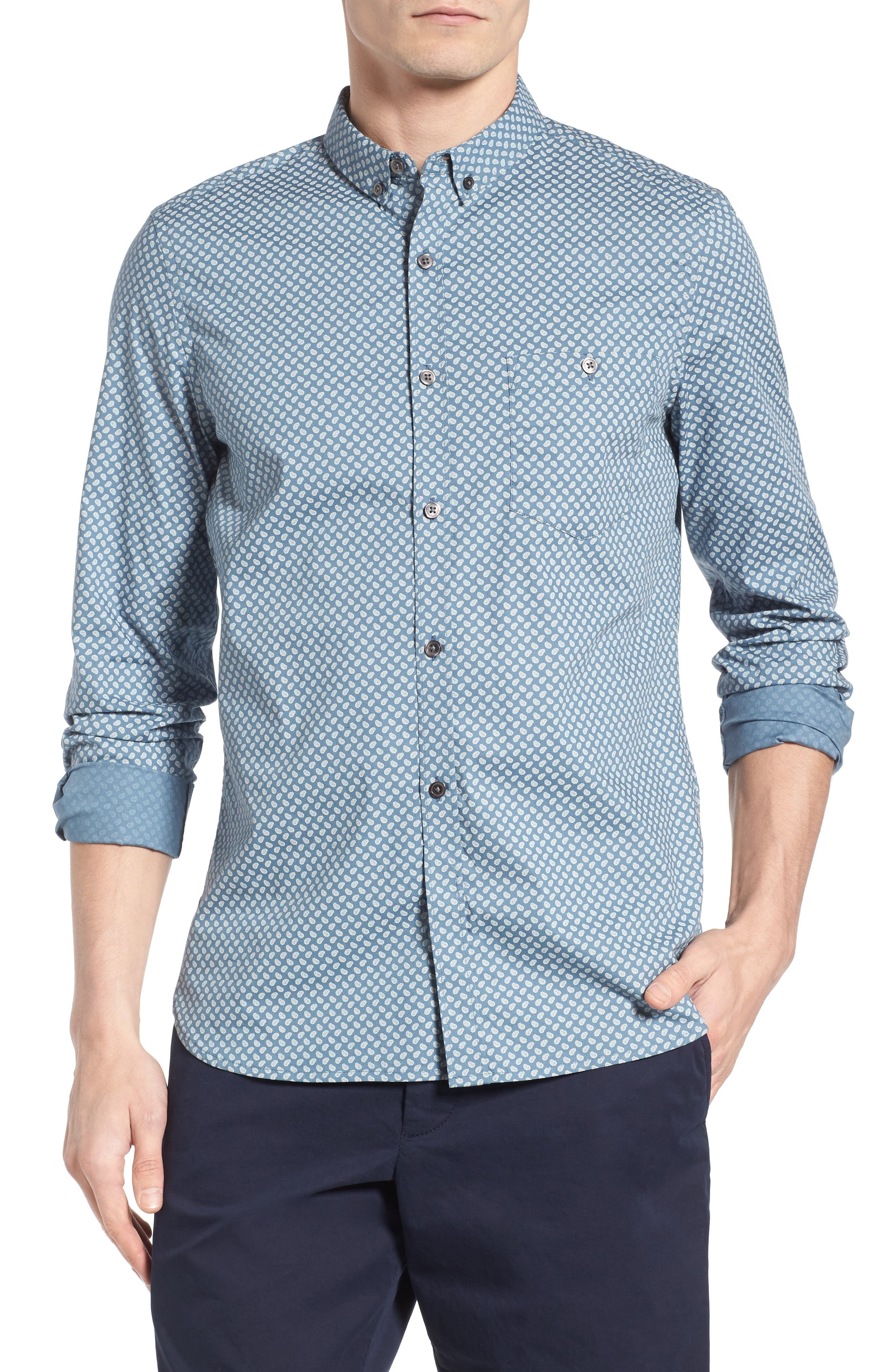 French Connection Slim Fit Paisley Sport Shirt