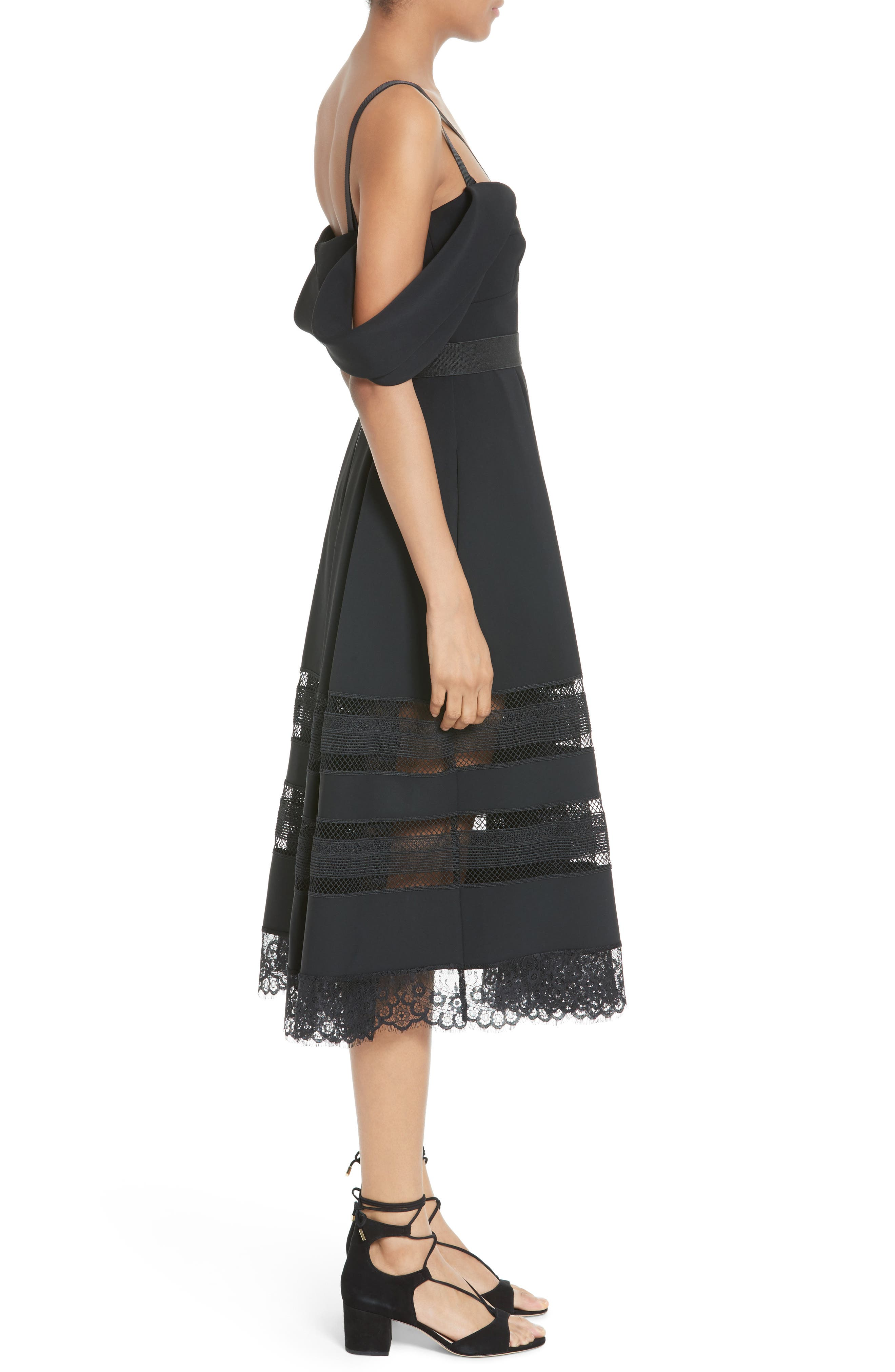 Alternate Image 3  - Self-Portrait Cold Shoulder Midi Dress