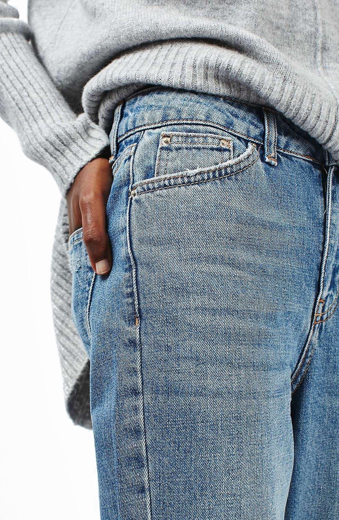 Alternate Image 5  - Topshop Ripped Mom Jeans (Petite)