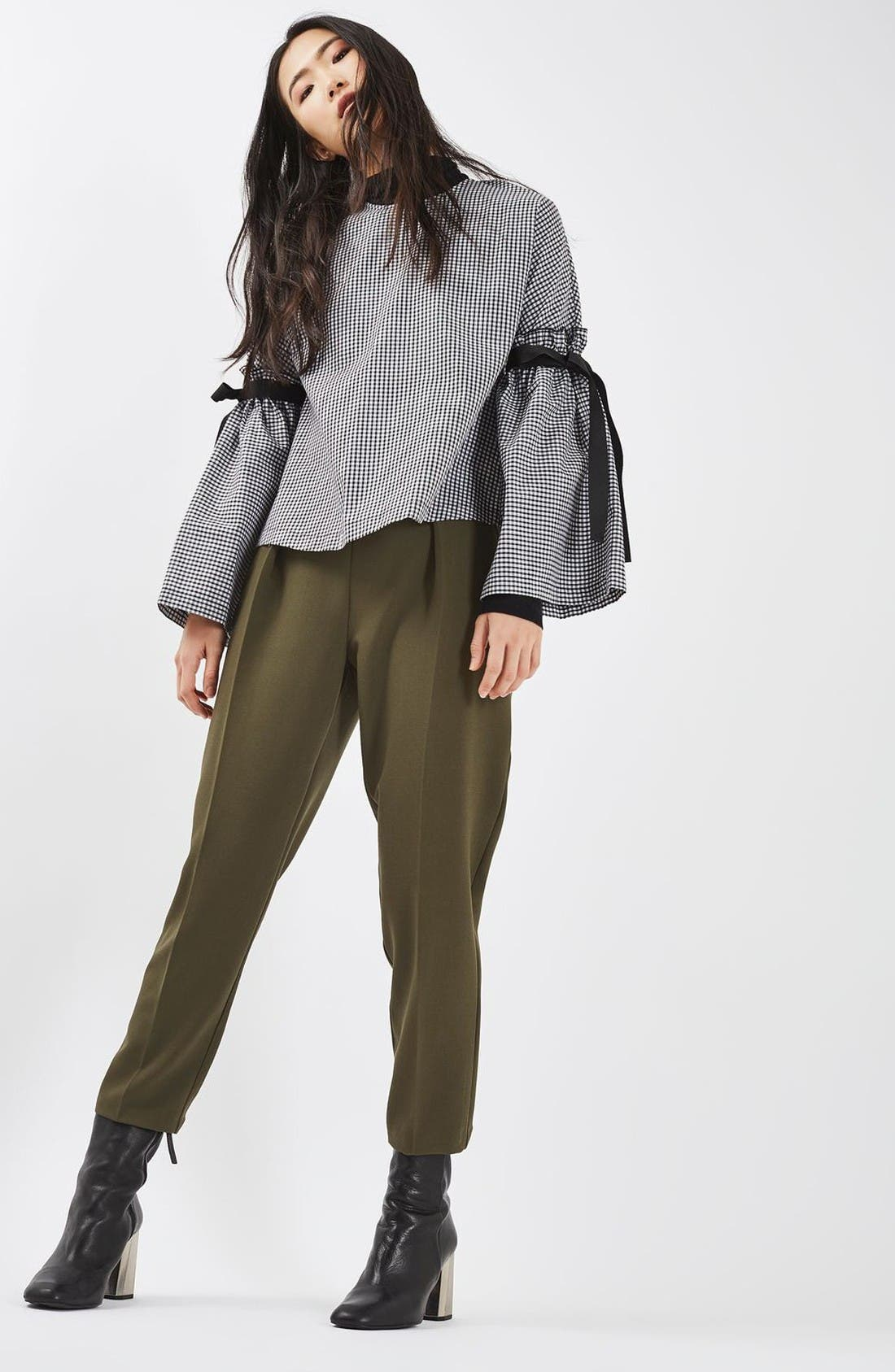 Alternate Image 2  - Topshop Grommet Detail Peg Trousers
