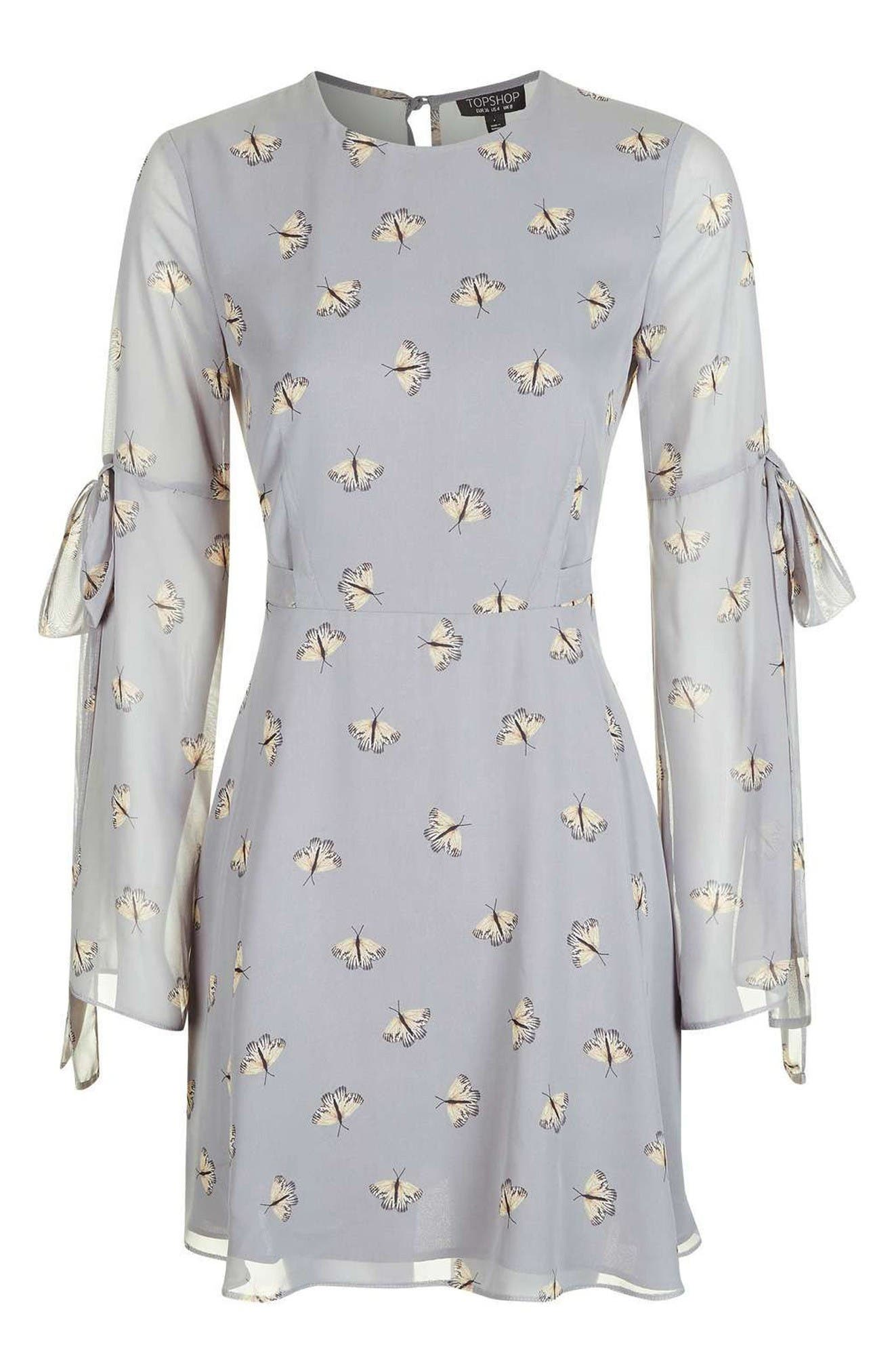 Alternate Image 4  - Topshop Moth Print Skater Dress