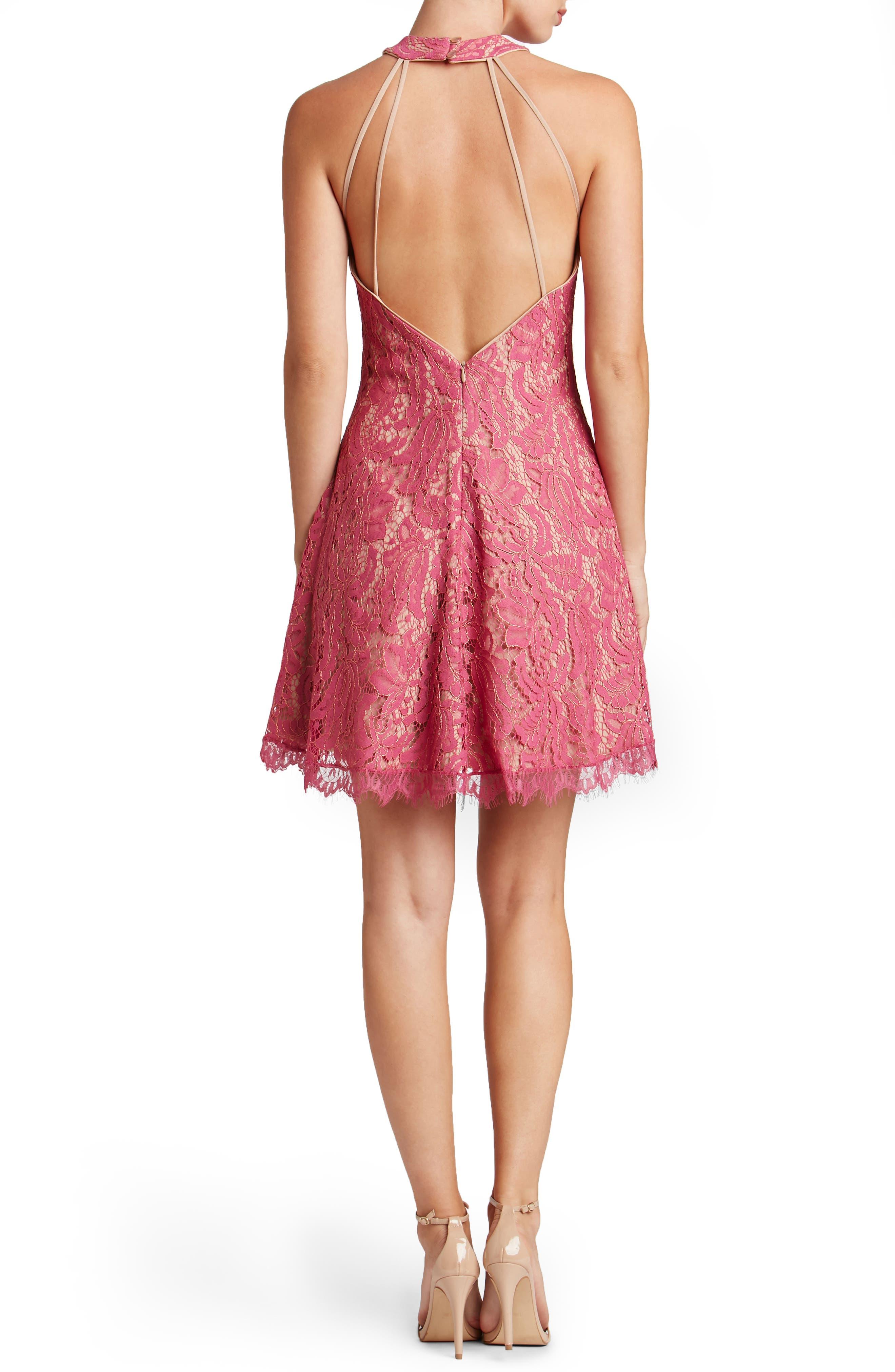 Alternate Image 2  - Dress the Population Angie Halter Dress