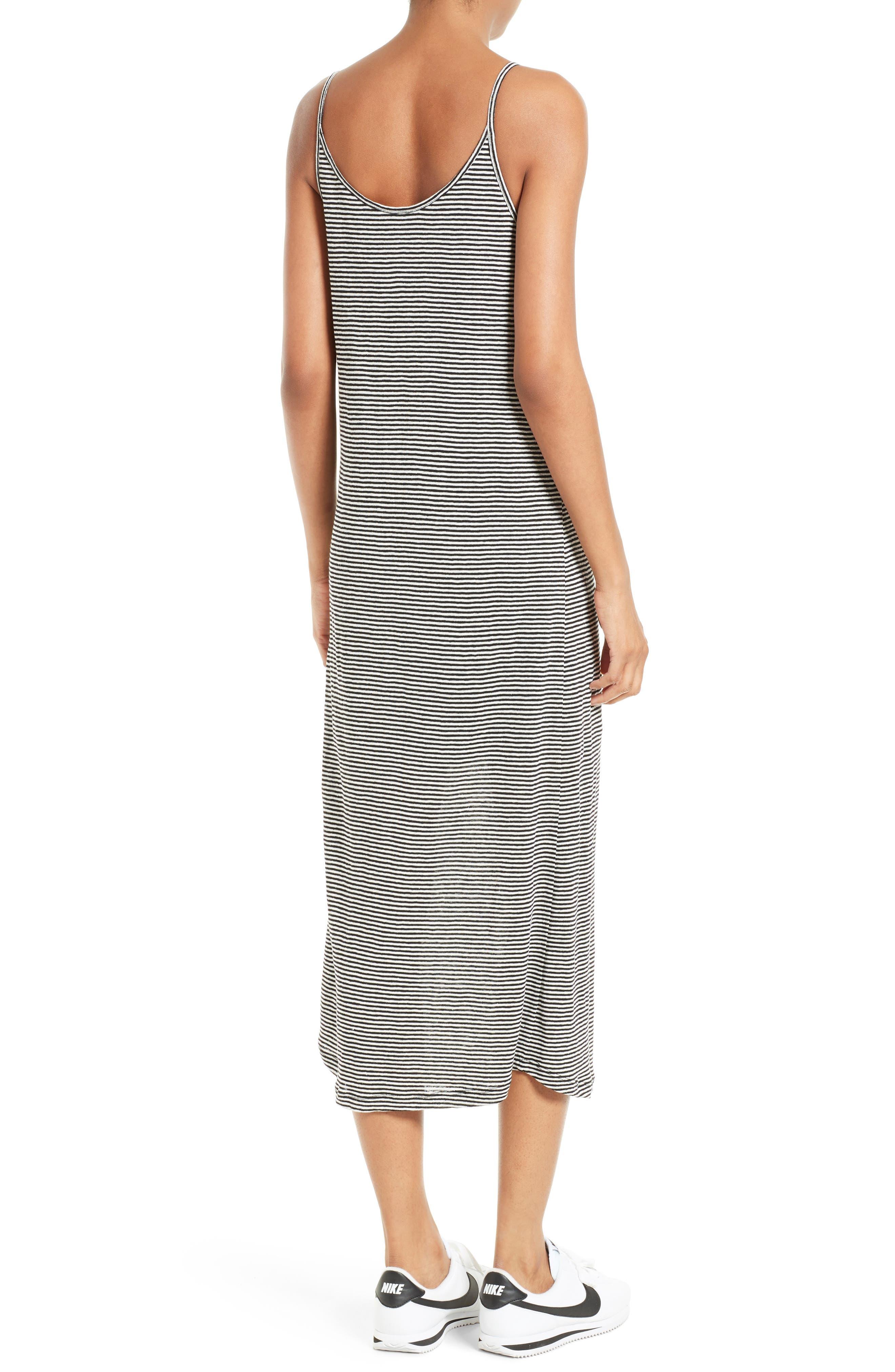 Alternate Image 2  - A.L.C. Asher Stripe Linen Midi Dress