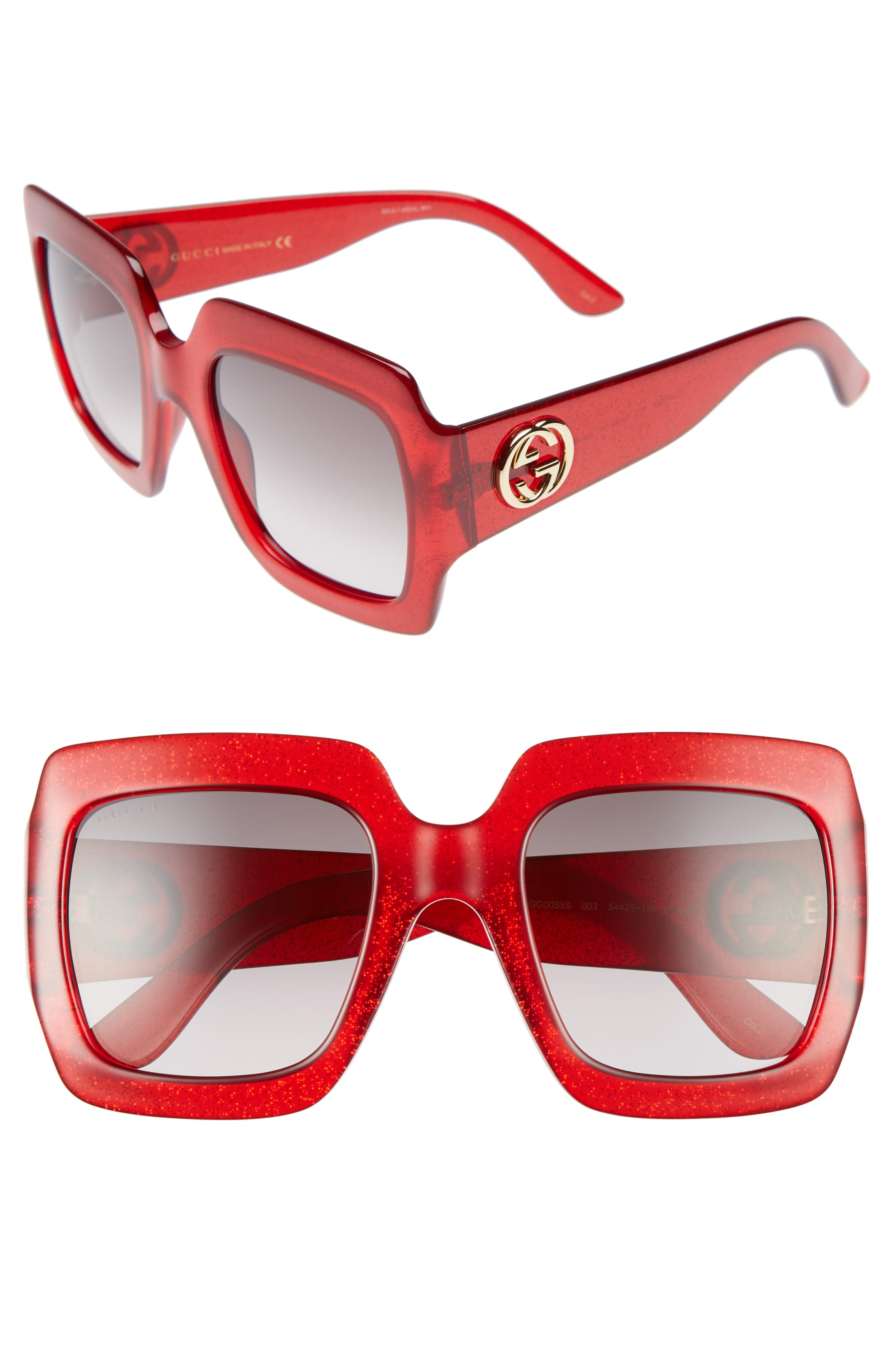 Alternate Image 1 Selected - Gucci 54mm Square Sunglasses