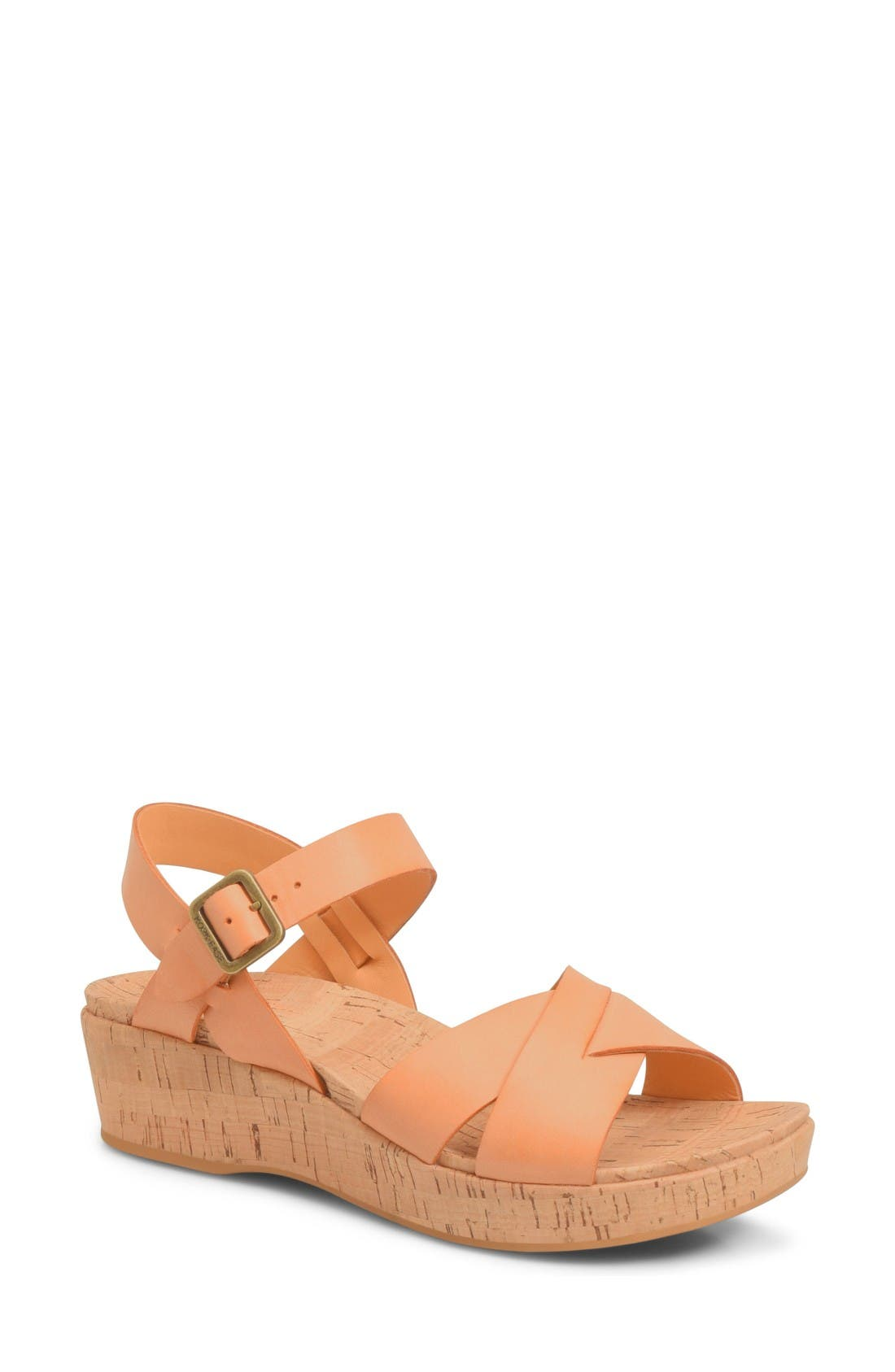 Kork-Ease® 'Myrna 2.0' Cork Wedge Sandal (Women)
