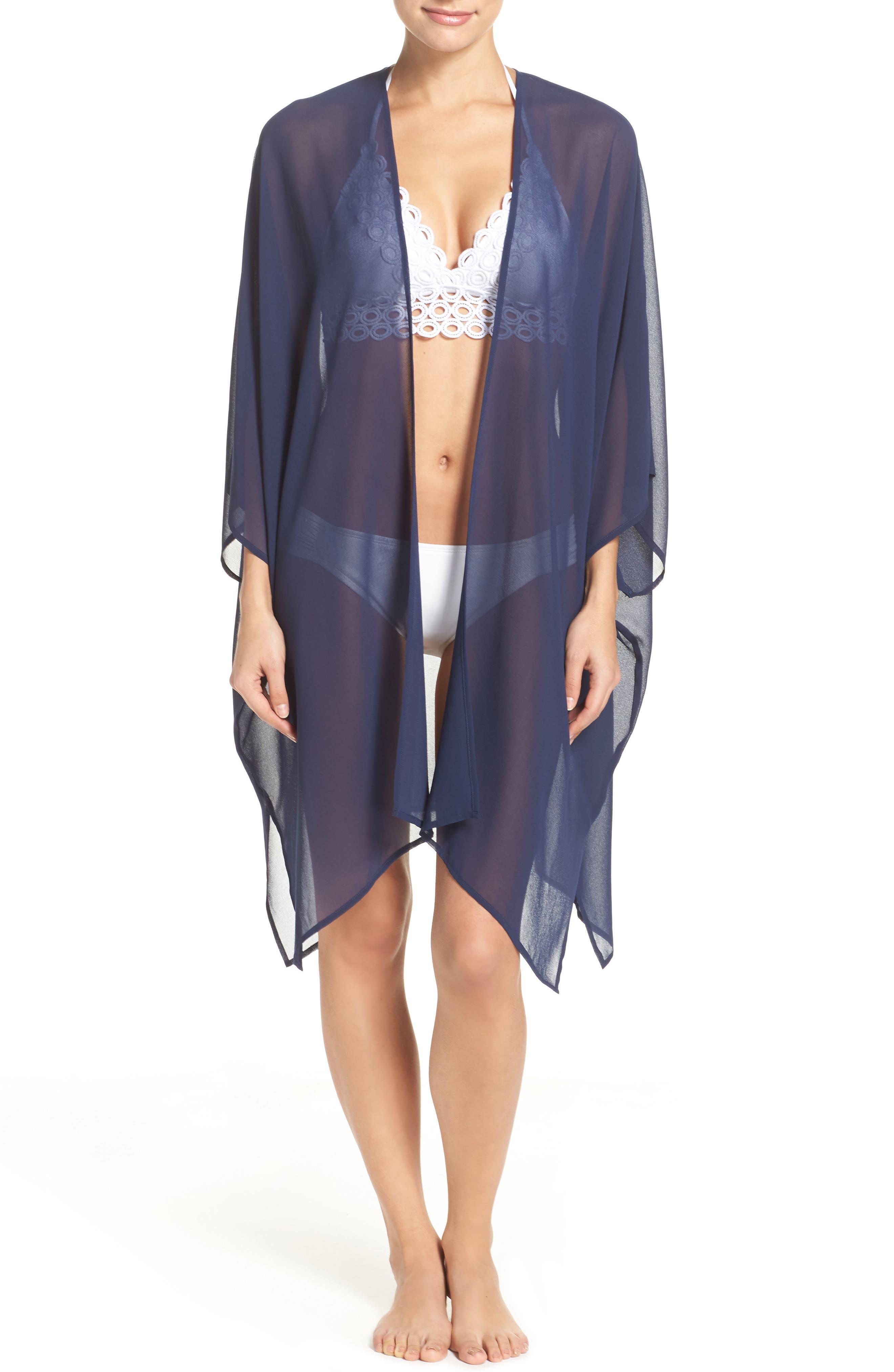 HALOGEN® Chiffon Cover-Up Kimono