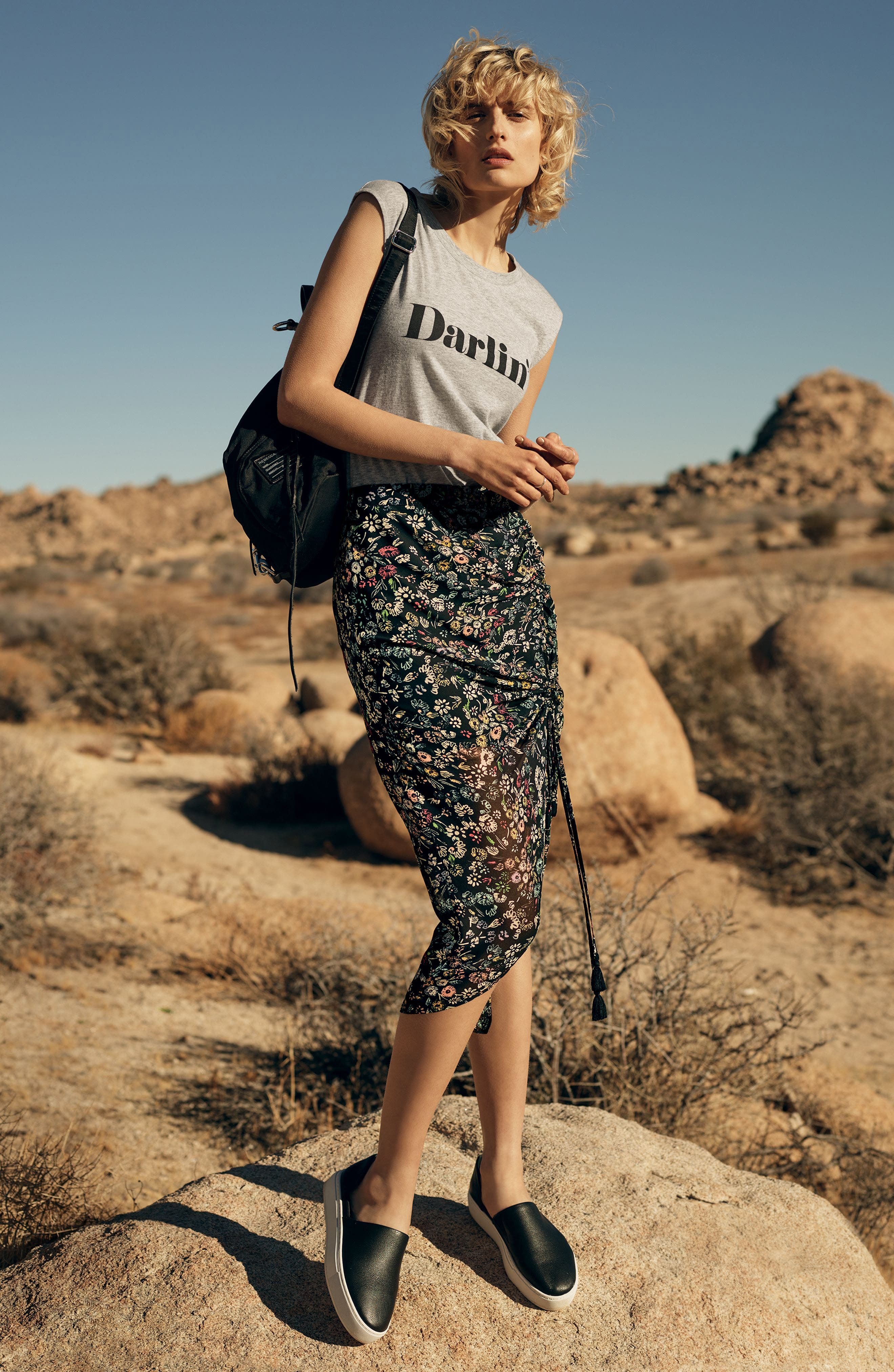 Rebecca Minkoff Tee & Skirt Outfit with Accessories