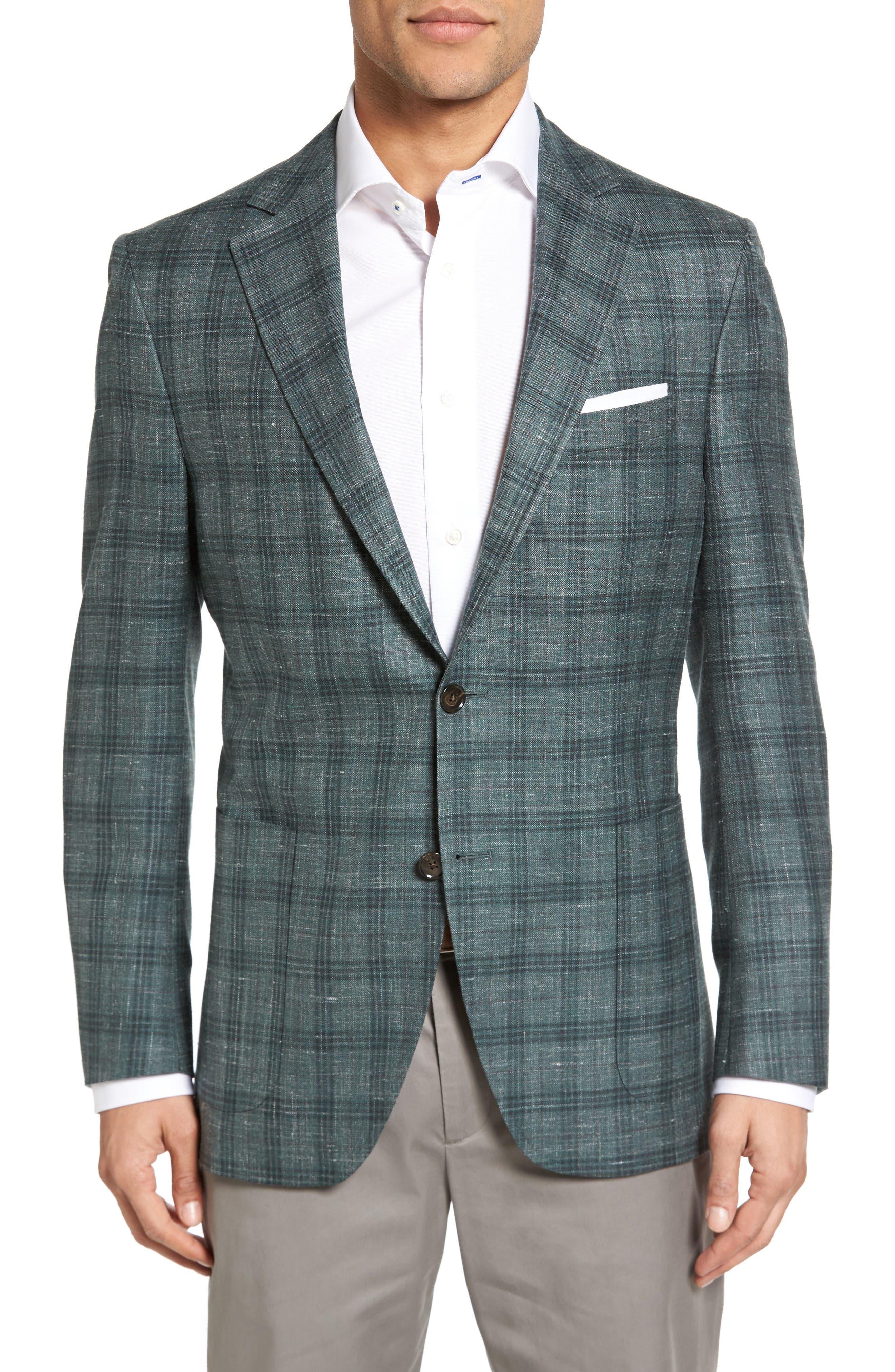 PETER MILLAR Classic Fit Plaid Wool Blend Sport