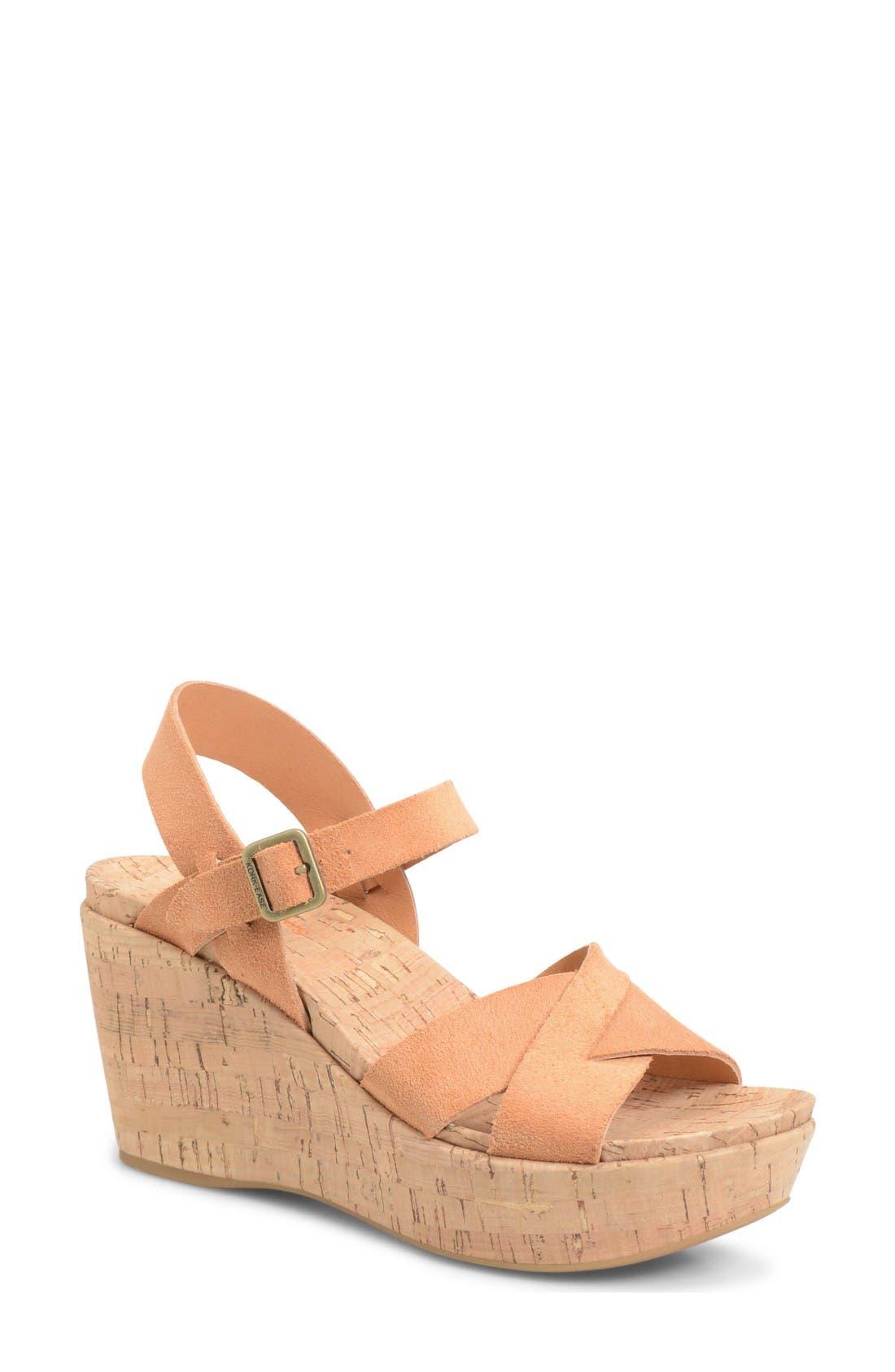 Alternate Image 1 Selected - Kork-Ease® 'Ava 2.0' Platform Wedge Sandal (Women)